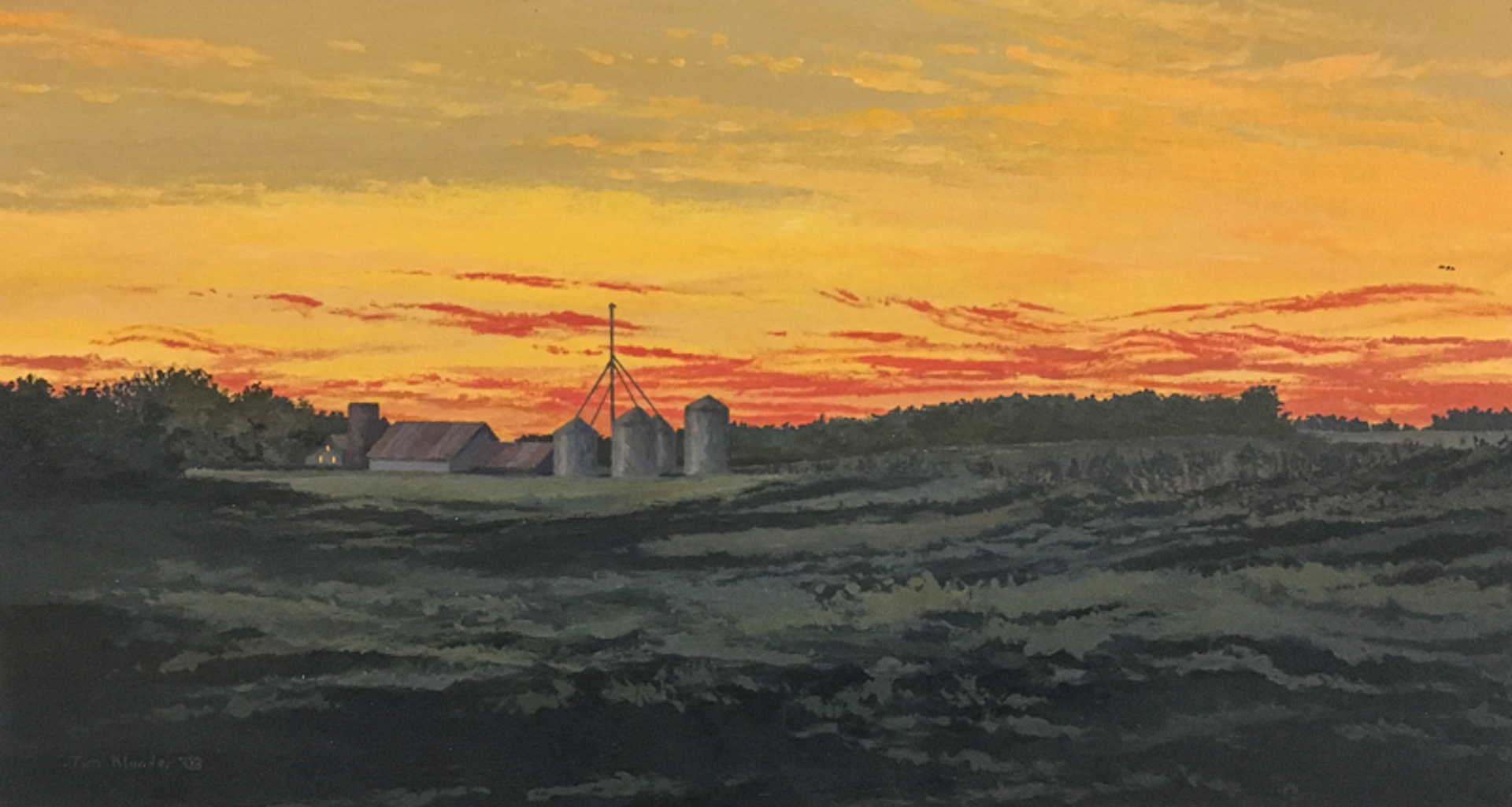 Red Sunset #2 by Tim Klunder