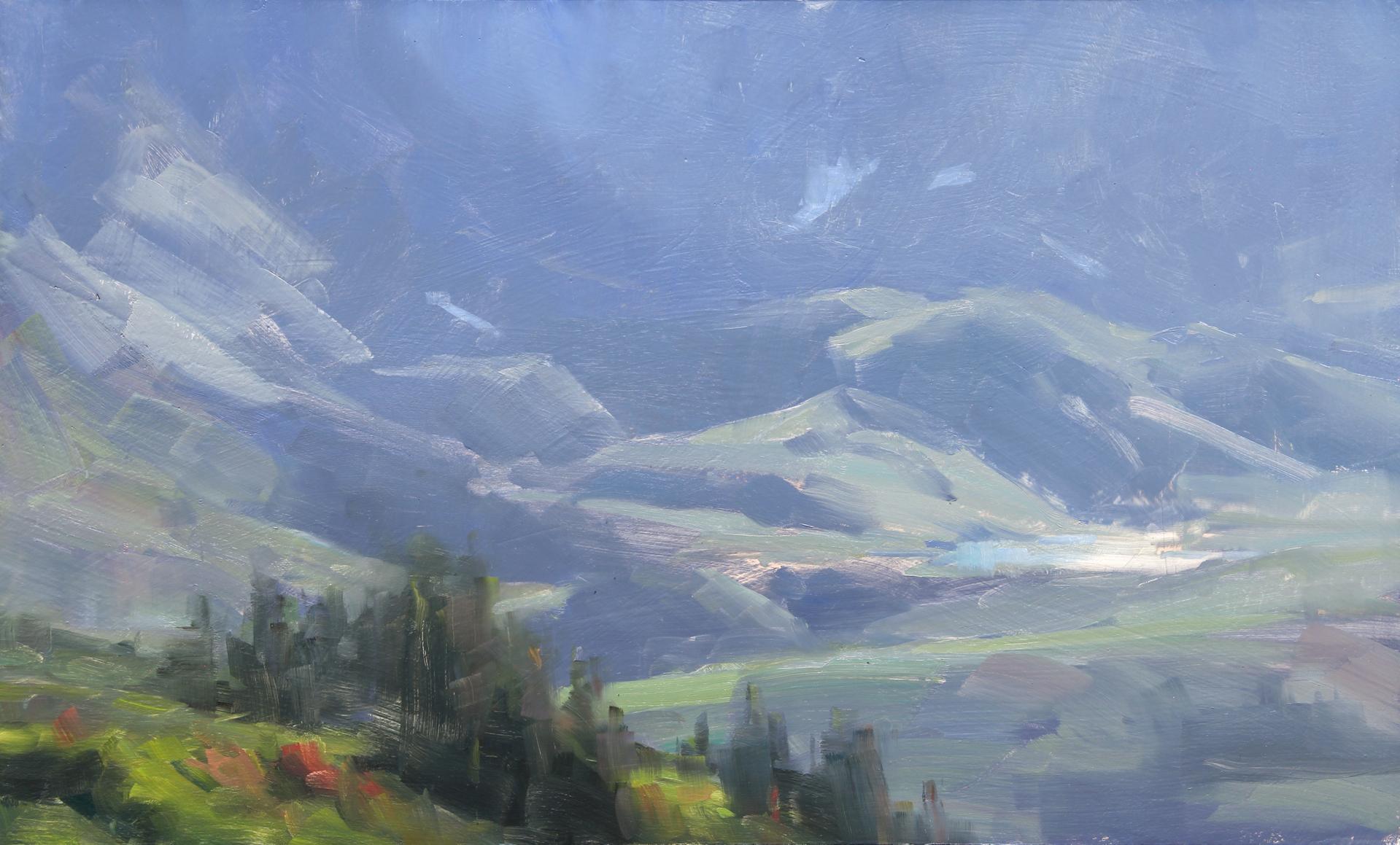 Mountain Air Study by Dave Santillanes