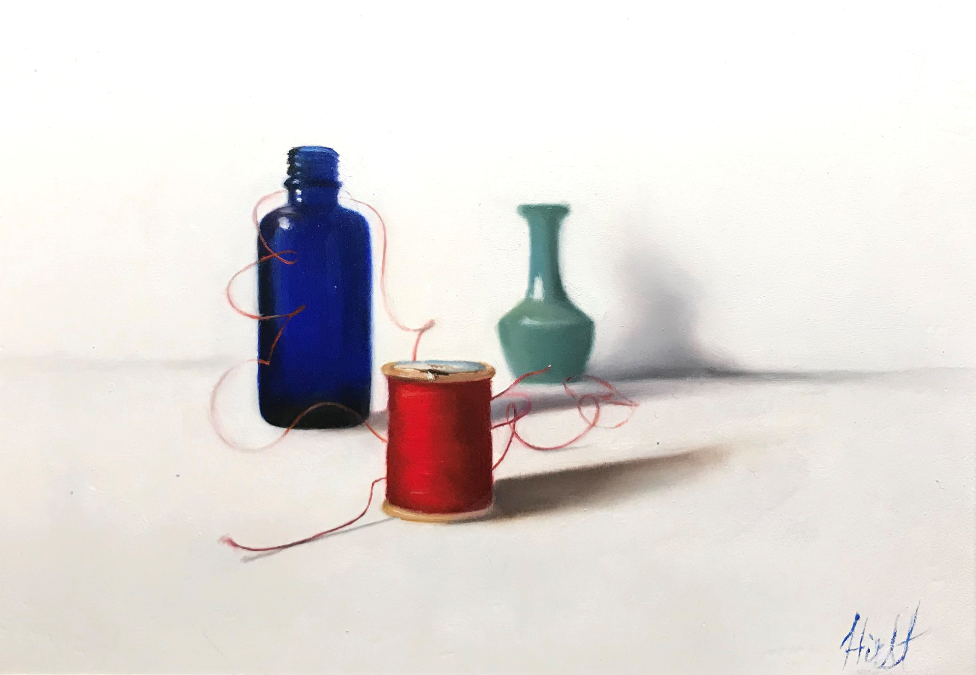 Red Thread, Two Blue by Emma Hirst