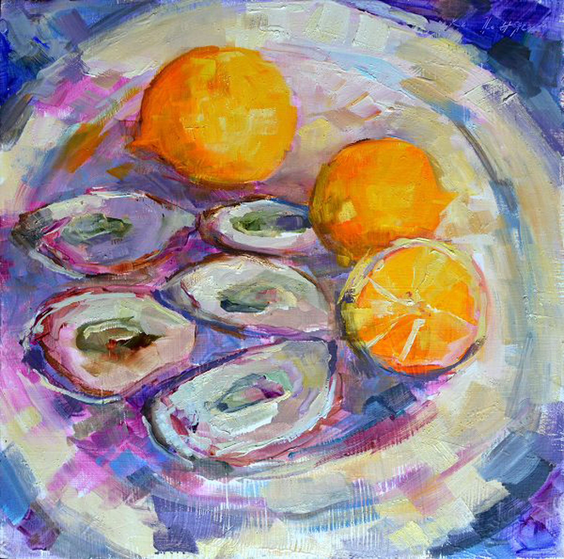 Five Oysters on a Friday Night by Karen Hewitt Hagan