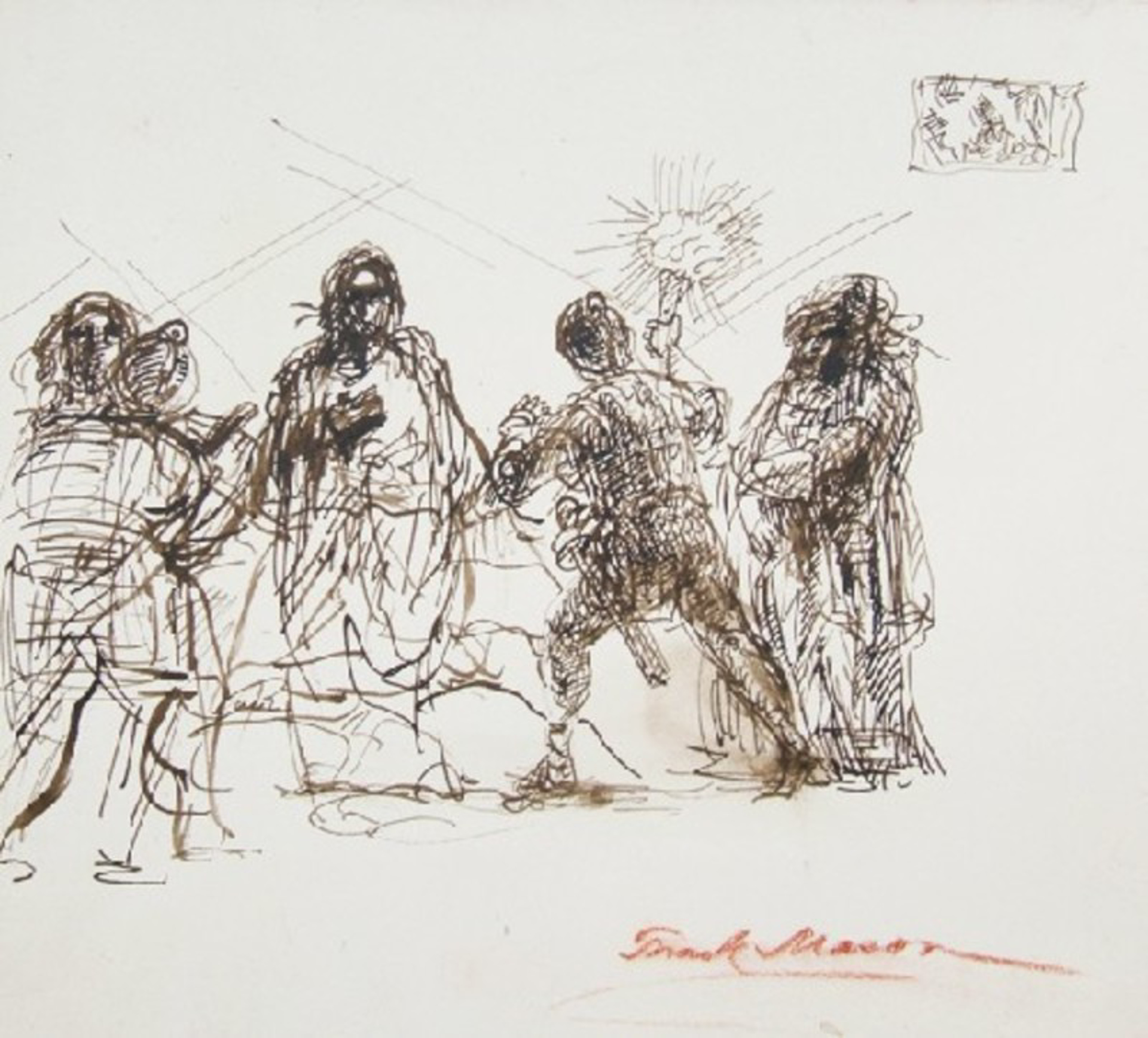 The Taking of Christ in the Garden of Gethsemene by Frank Mason (1921 - 2009)
