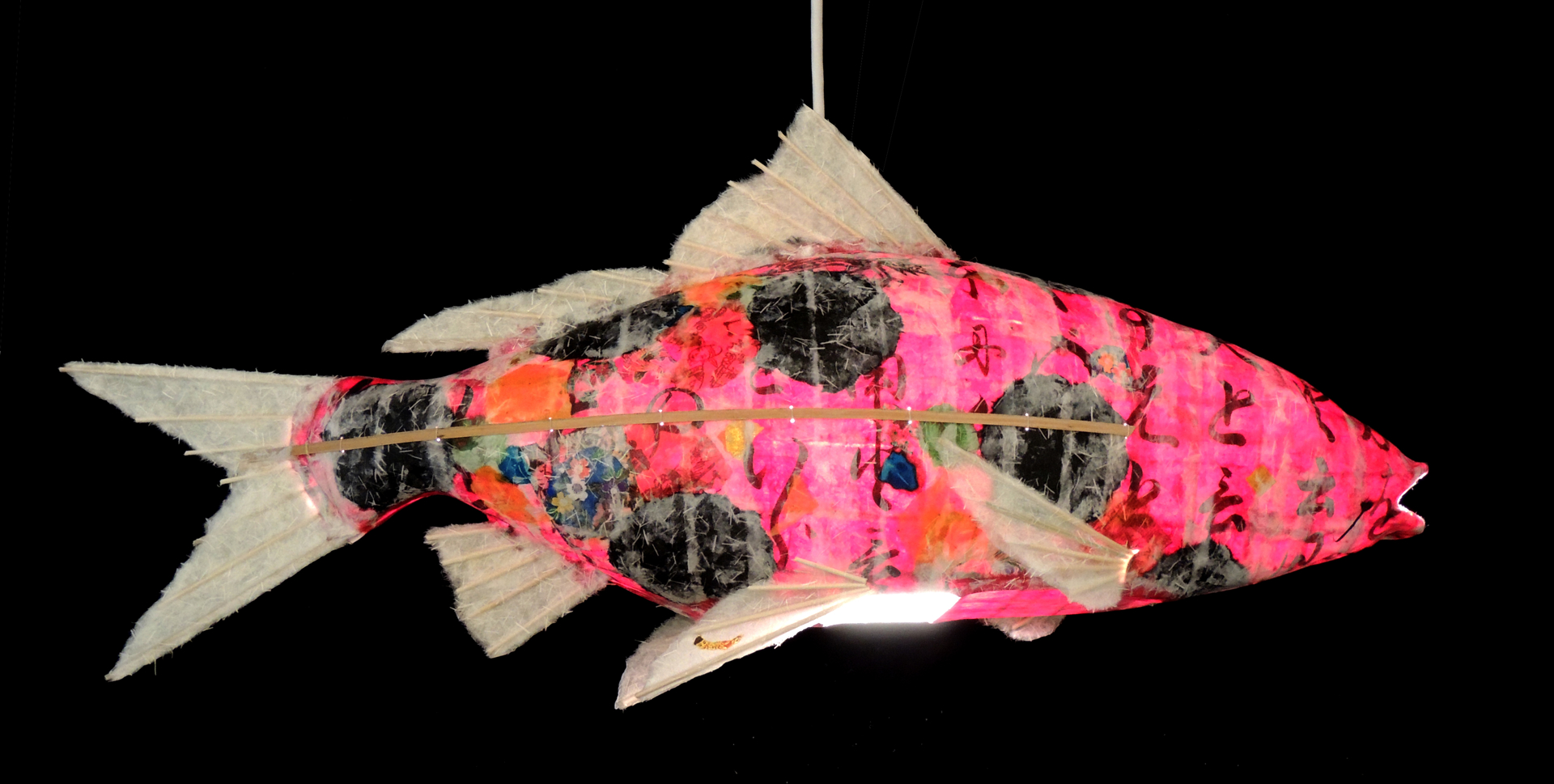 Ruby Koi Chandelier by Elaine Hanowell