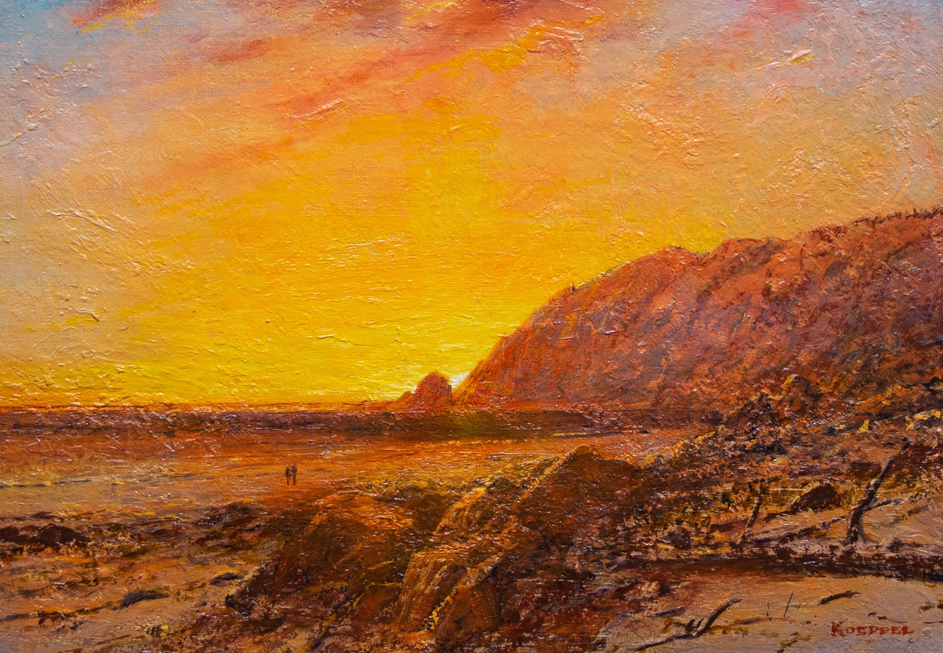 Sunset on the Coast by Erik Koeppel