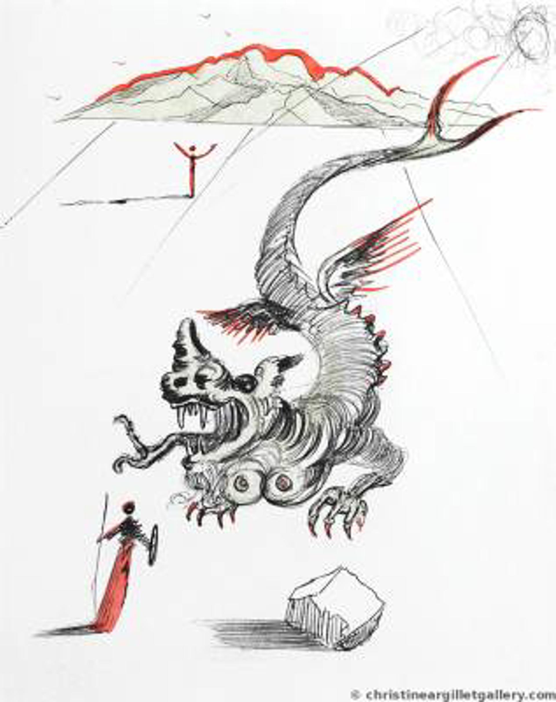 "Mao Zedong ""The Dragon"" by Salvador Dali"