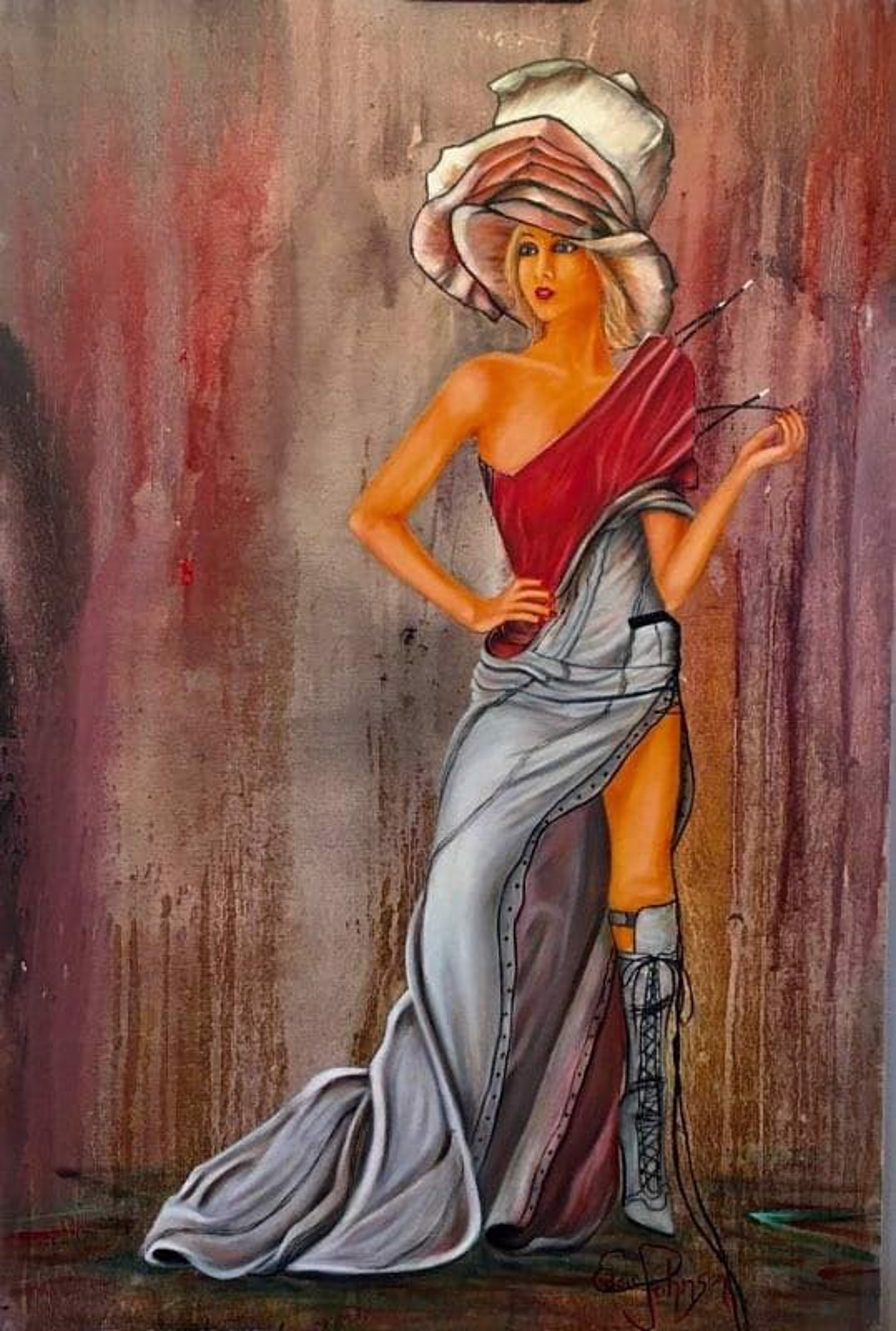 Hat Lady by Edwin Johnson (McMinnville, OR)