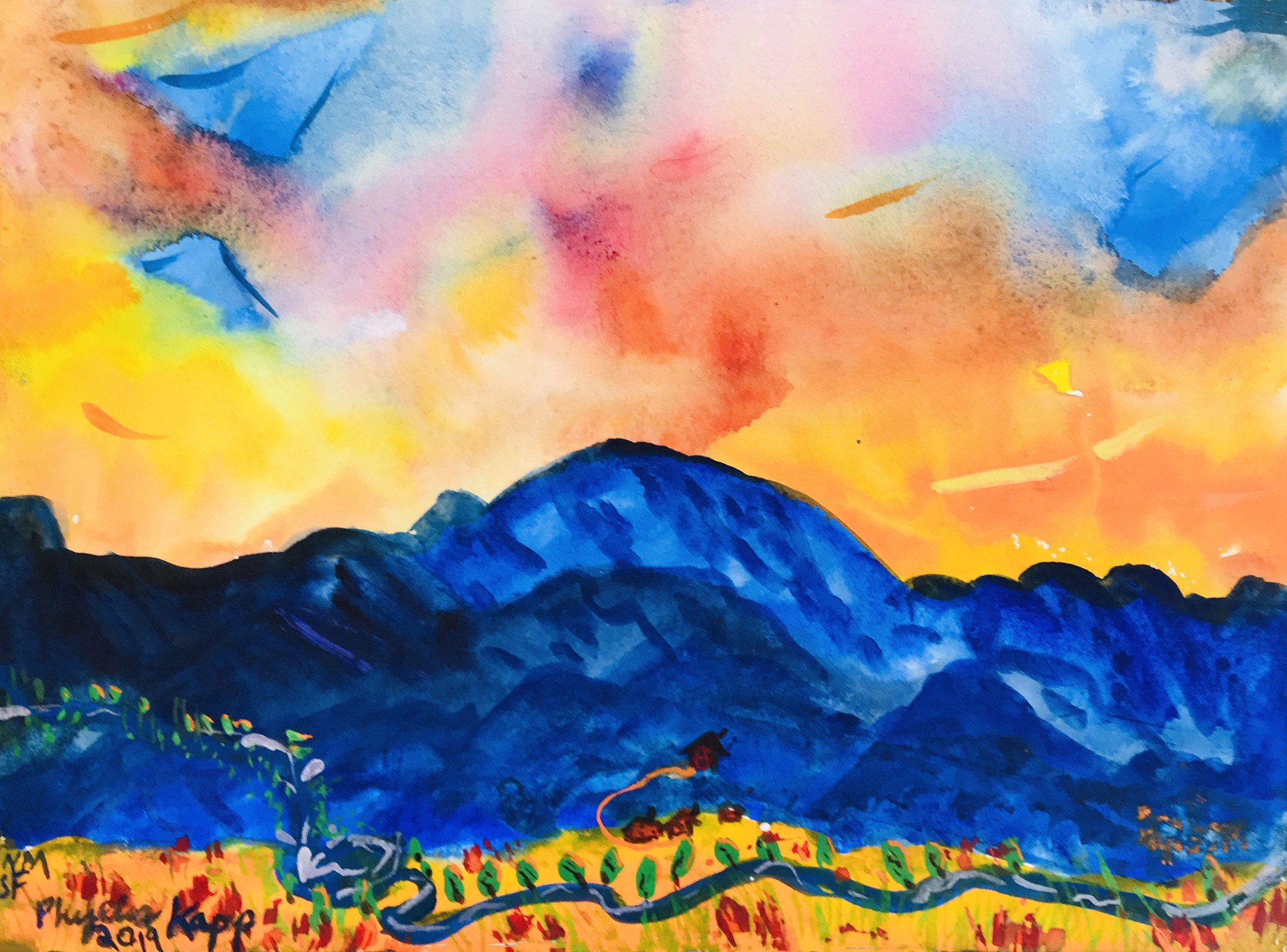 Skyburst (Auction: 10am - 3pm August 14th)    by Phyllis Kapp