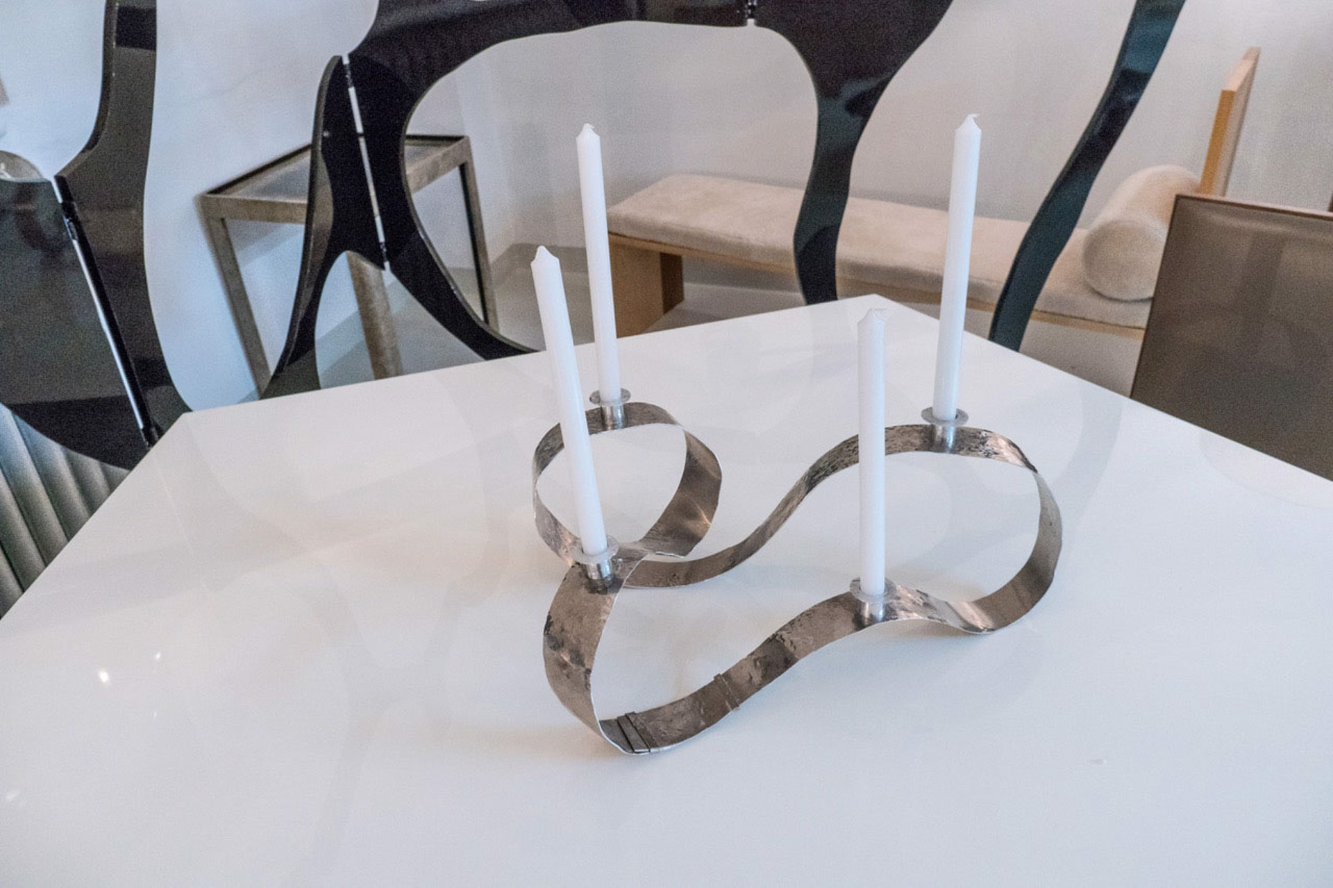 """Waves"" Candelabra  by Jacques Jarrige"