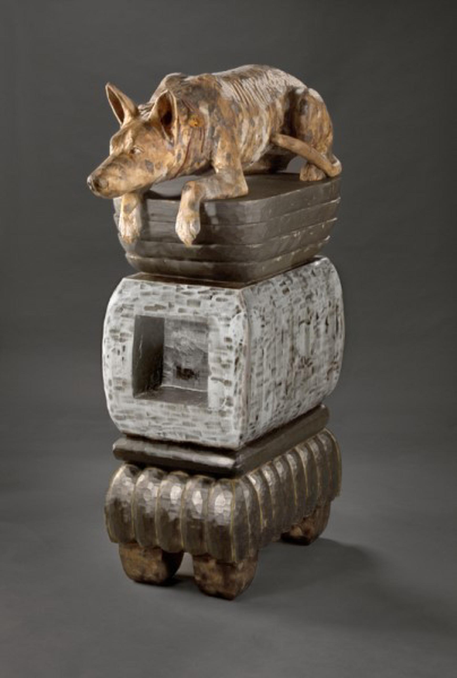Crouching Dog by Elaine Hanowell