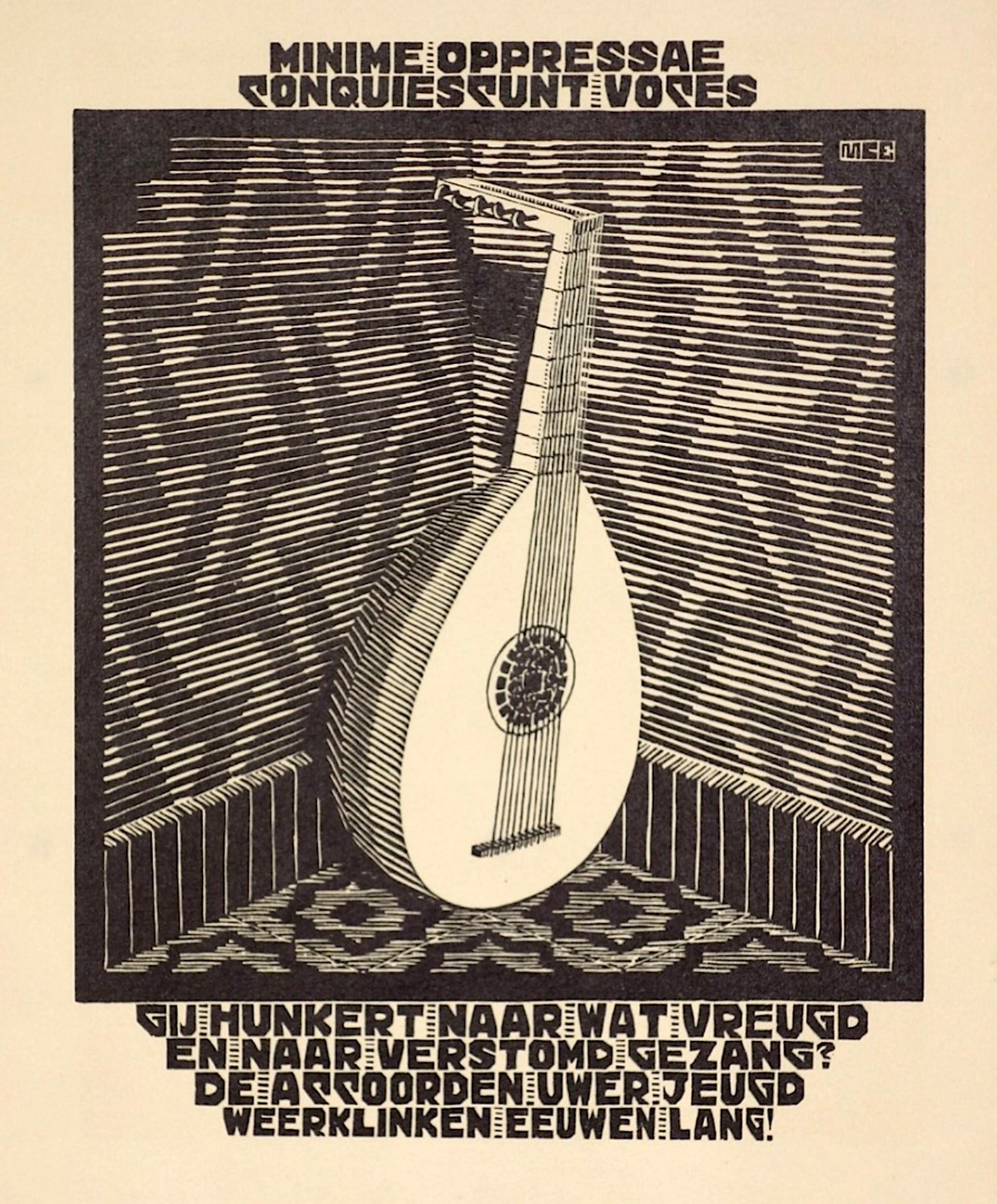 Emblemata - Lute by M.C. Escher