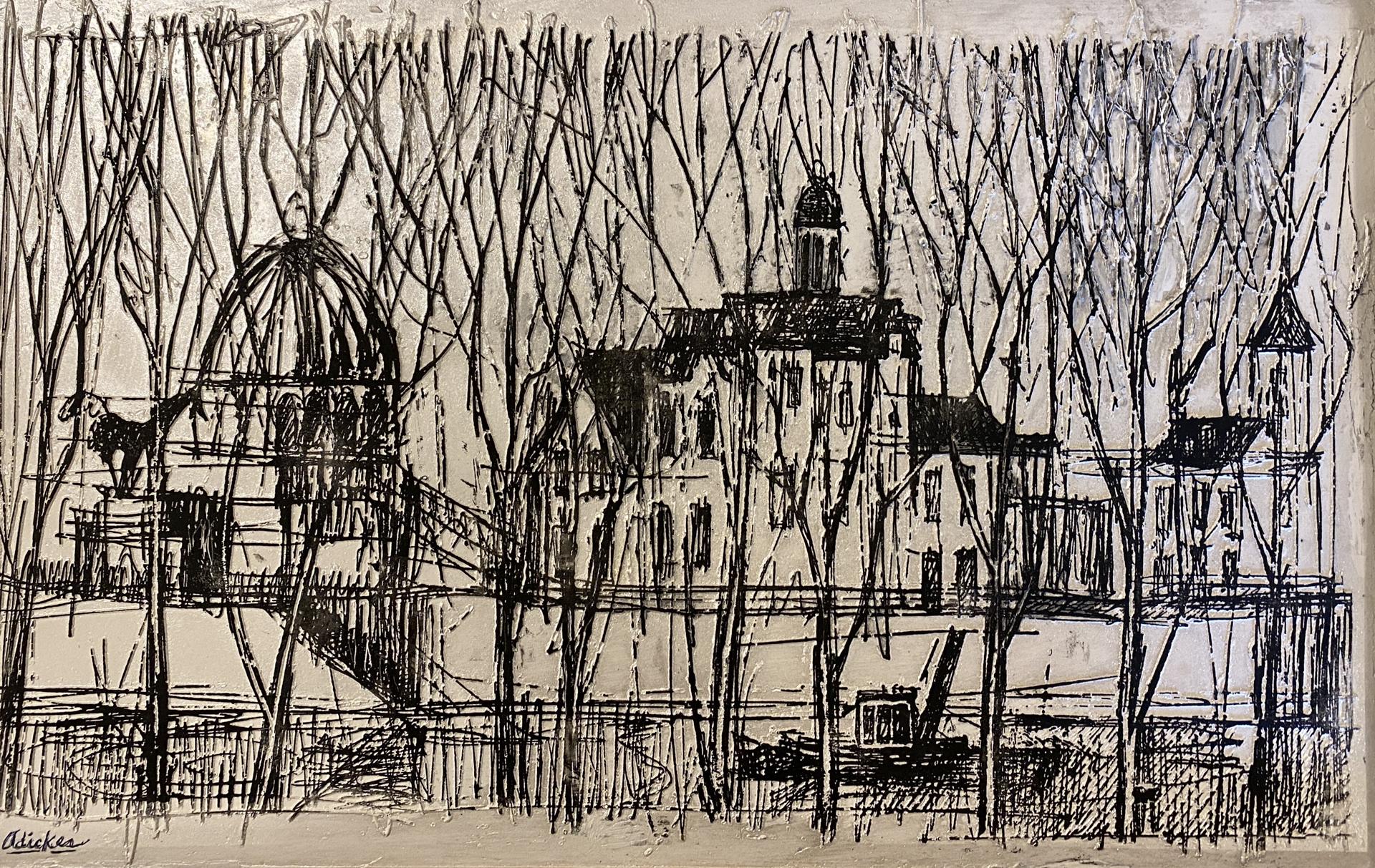 Walk on the Seine by David Adickes