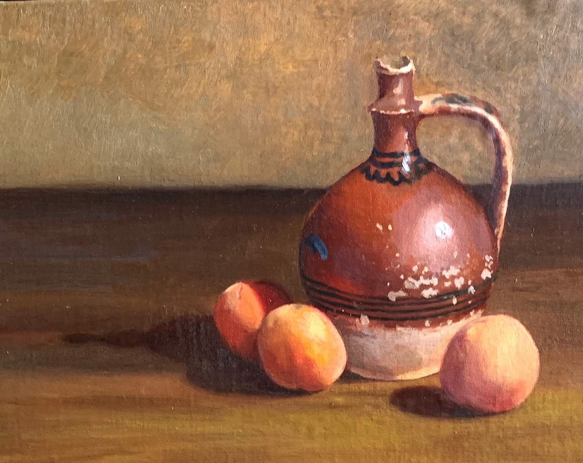 Pitcher with Peaches by Laura Murphey