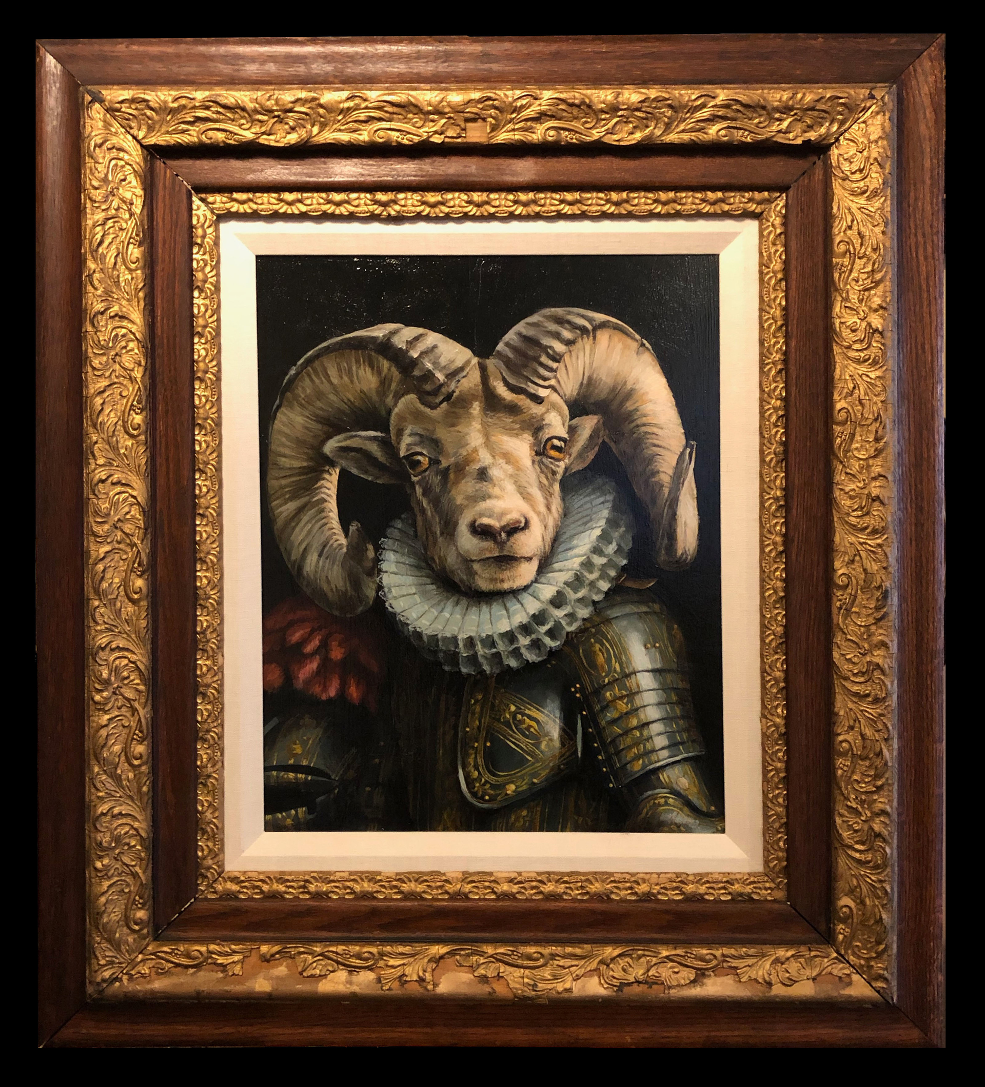Bighorn Ram in Armour by Cassandra Kim