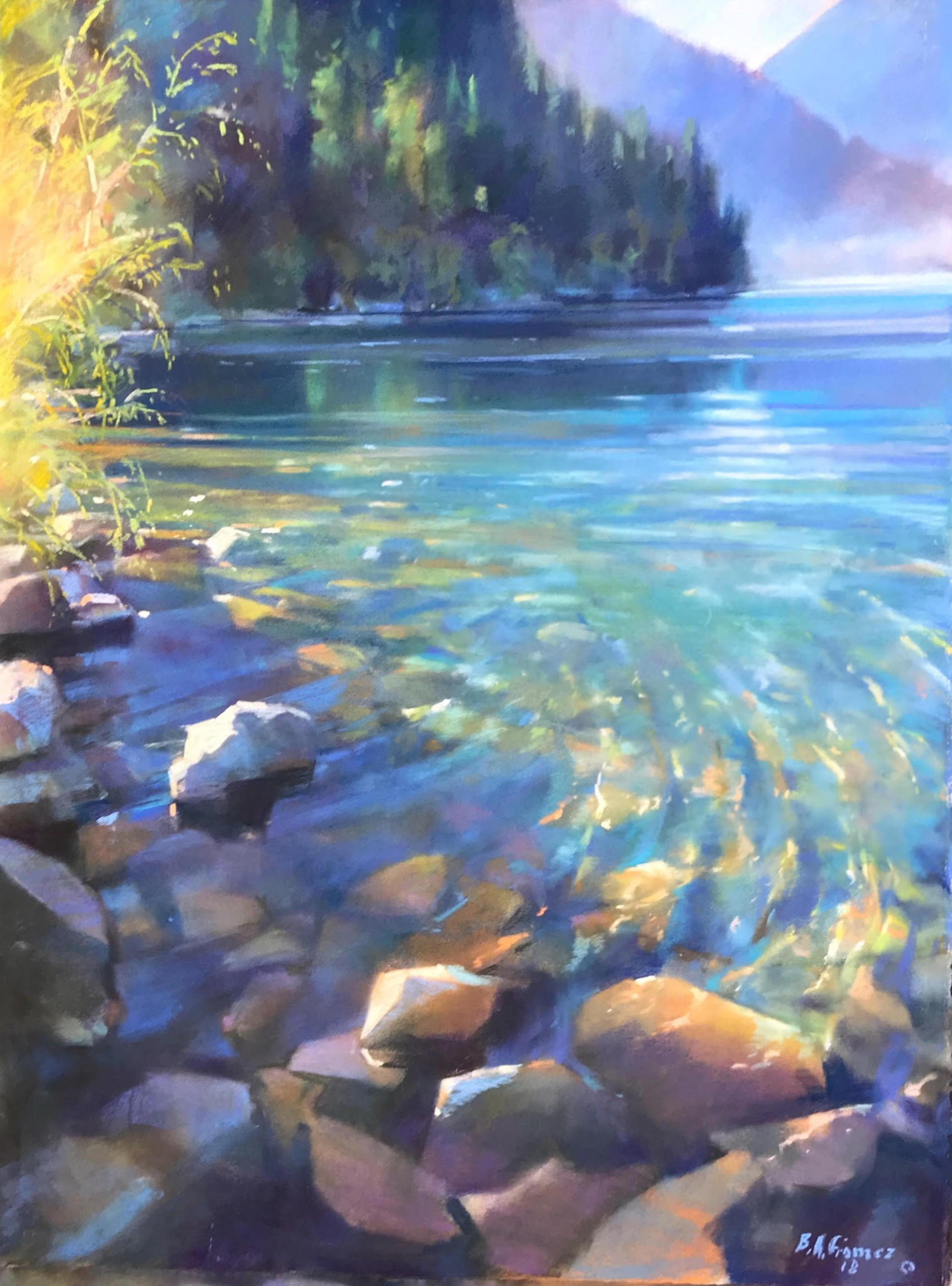 Lake Crescent with Doc by Bruce A Gómez