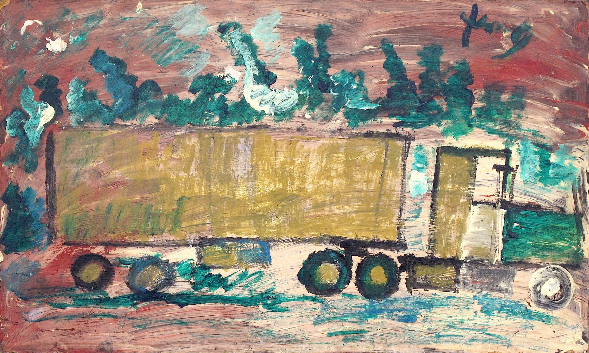 18 Wheeler by Purvis Young