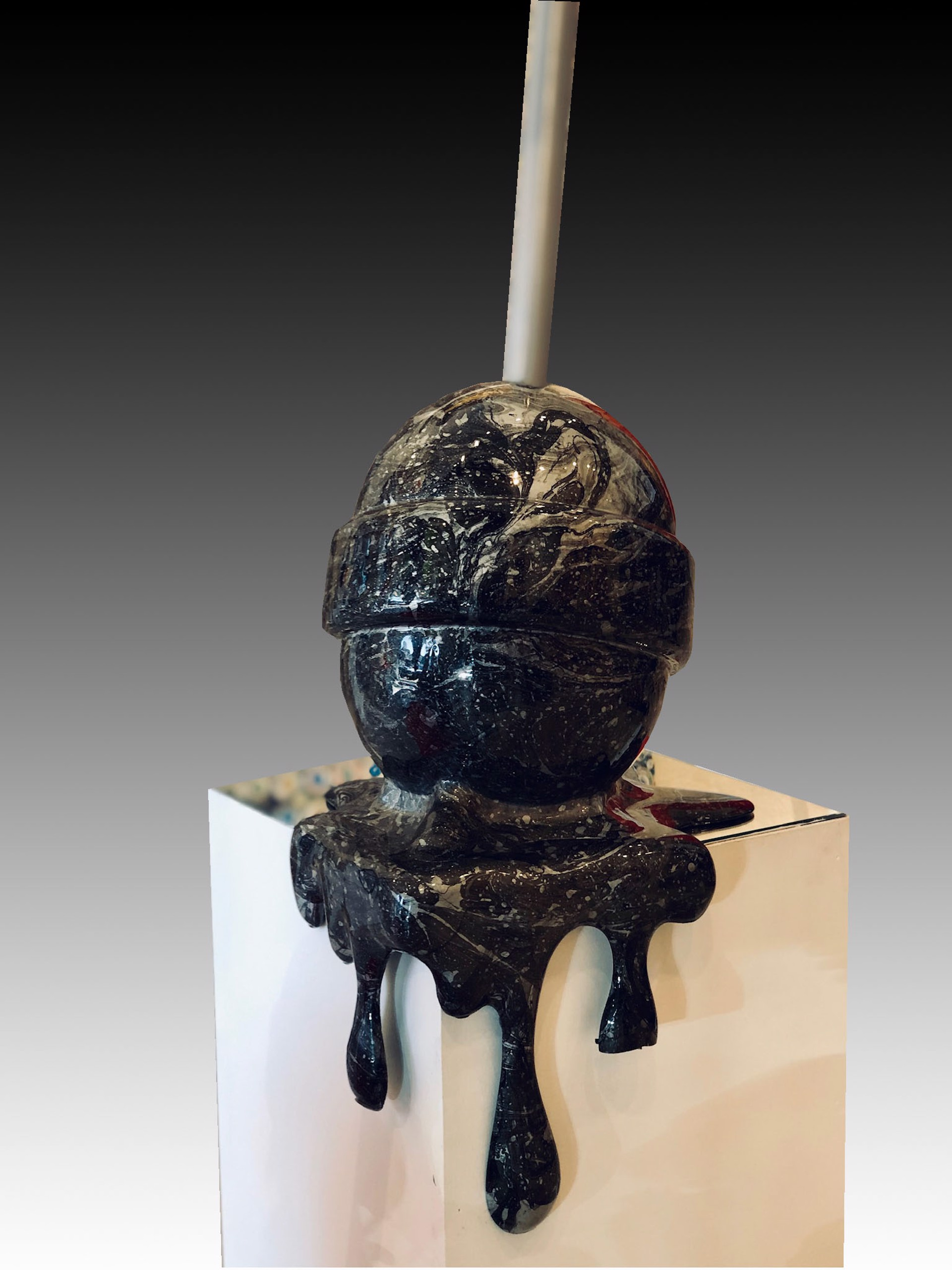 """The Sweet Life"" Medium Grey/Black corner drip lollipop by Elena Bulatova"