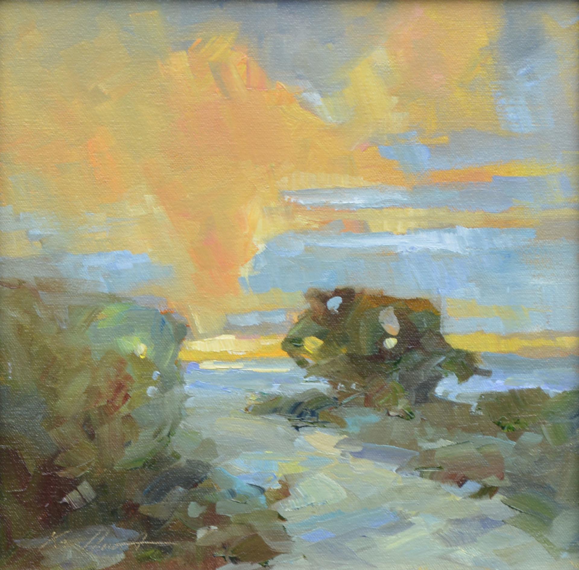 The Path to Evening (Dirt Road Overlooking Clark Sound) by Karen Hewitt Hagan