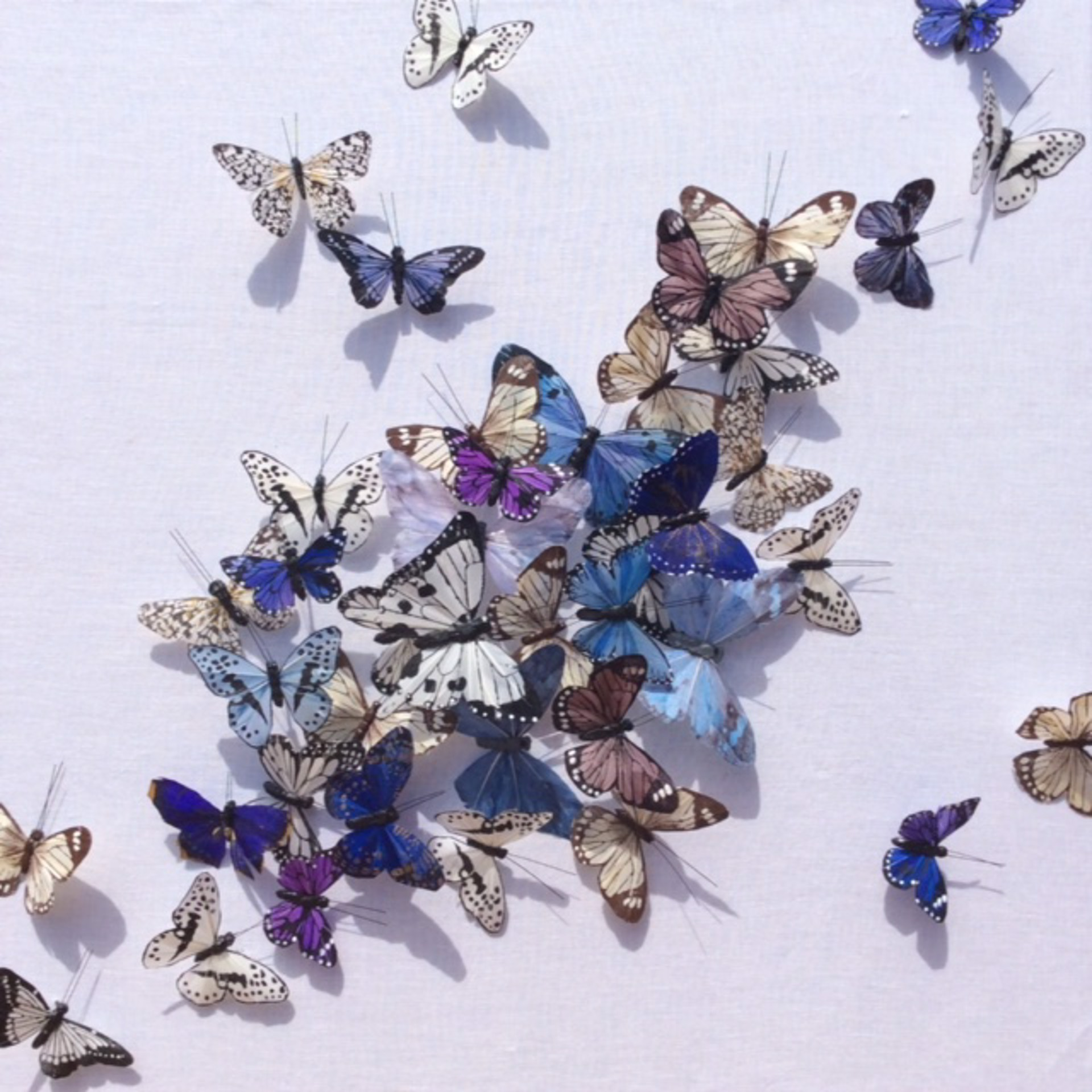 Neutrals, Indigo, Periwinkle, Mauve and a Touch of Purple by Juan Carlos Collada