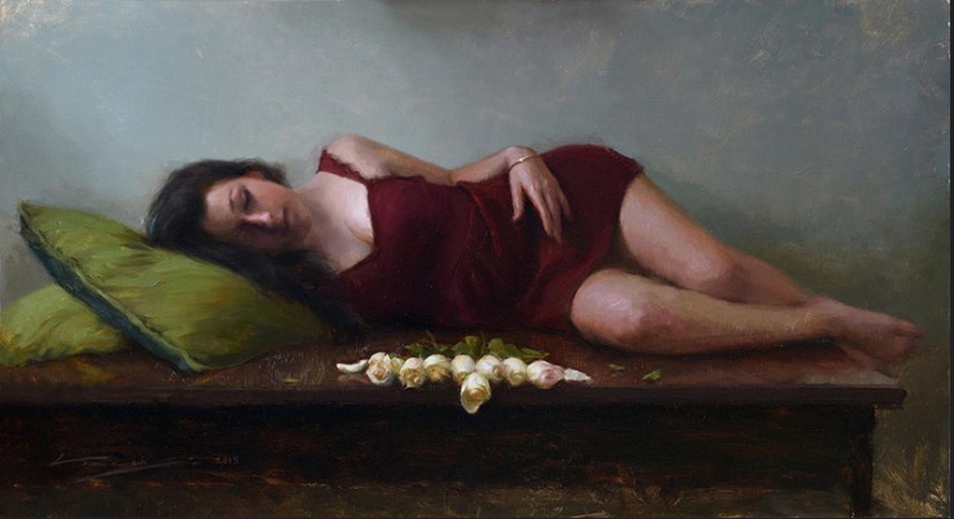 Lying in Burgundy by Alex Venezia