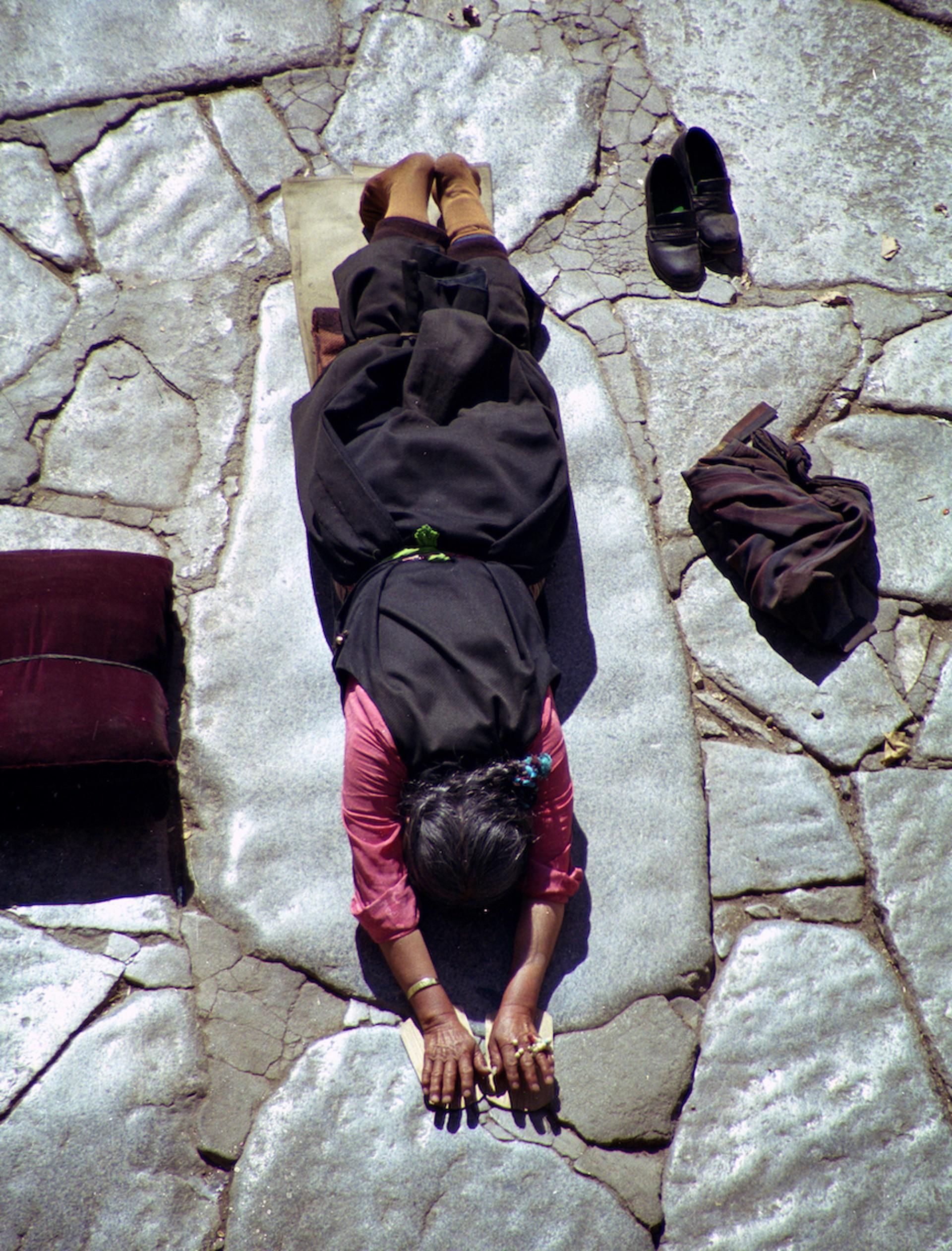 Devotion, Lhasa, Tibet by Cora Edmonds