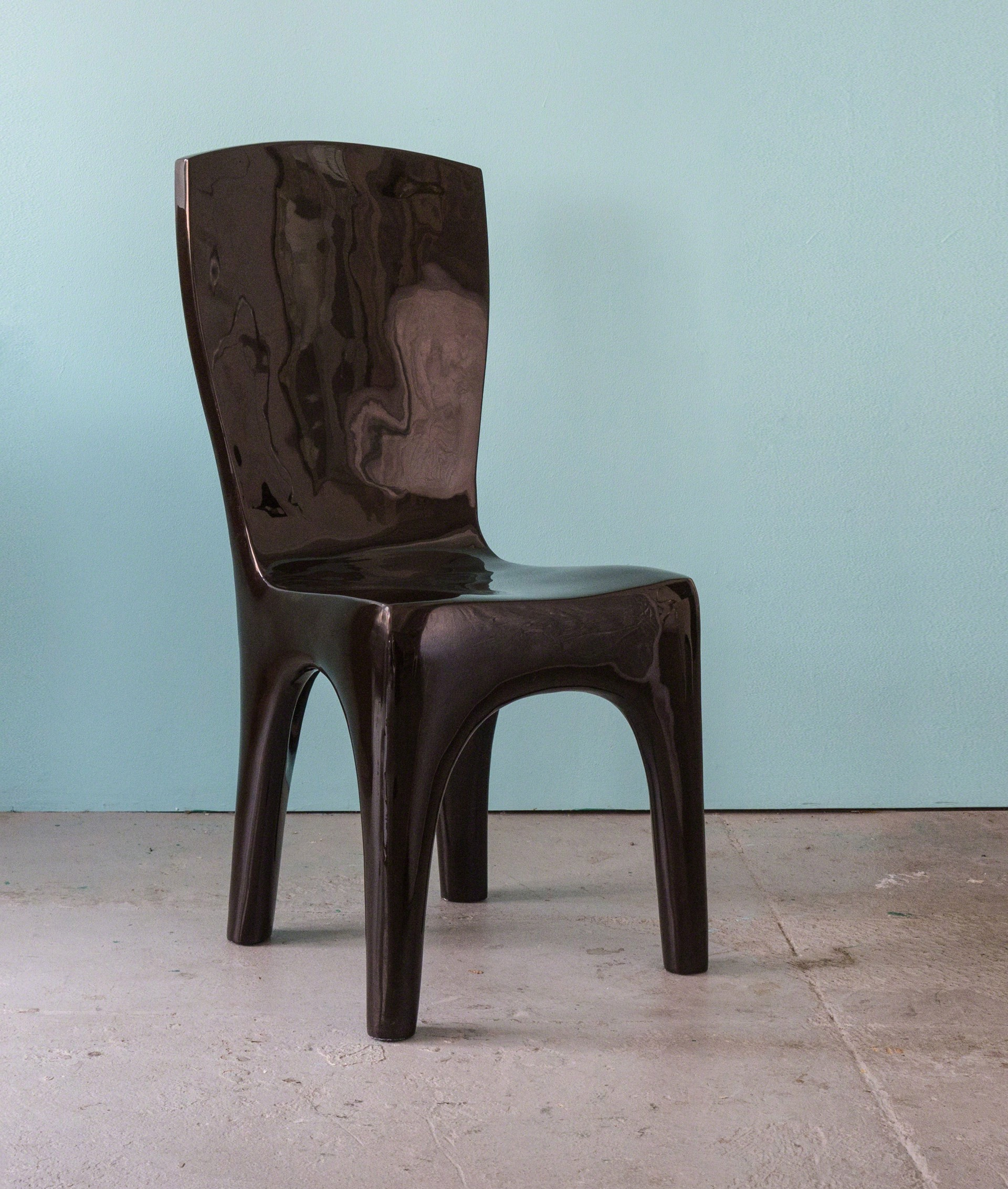"""""""Toro""""  Black chair  by Jacques Jarrige"""