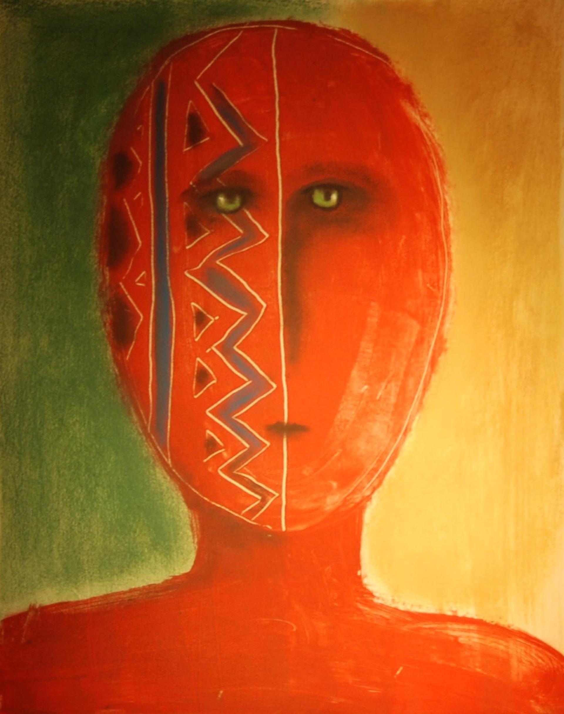 Red Warrior - Unframed by Carole LaRoche