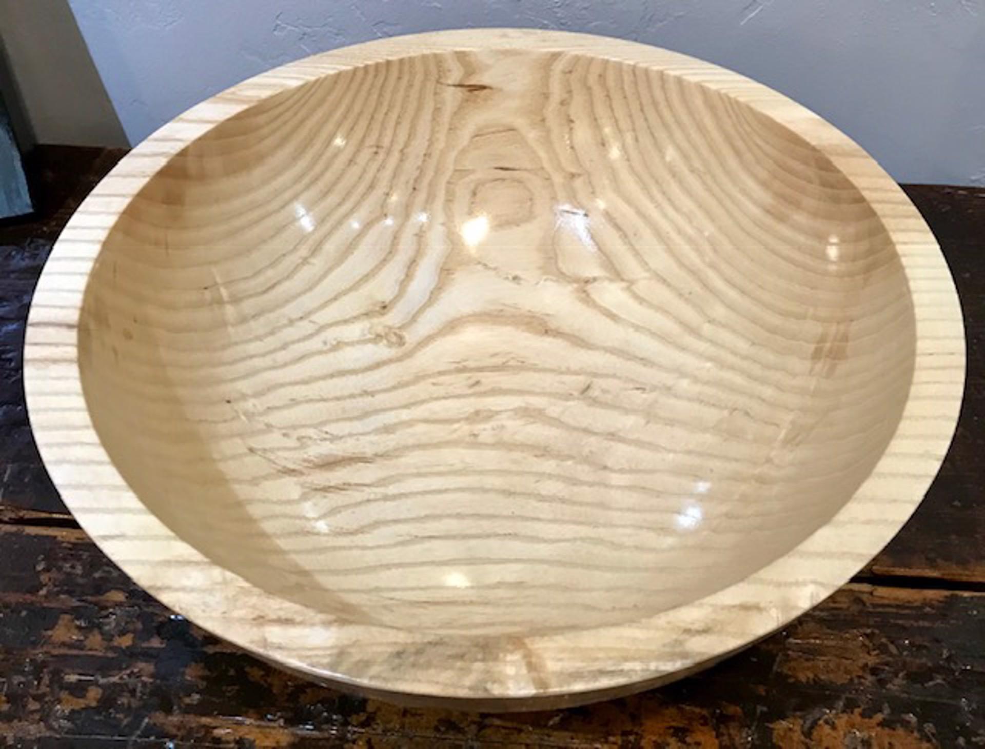 Ash Bowl With Walnut Base by Brian Higgins