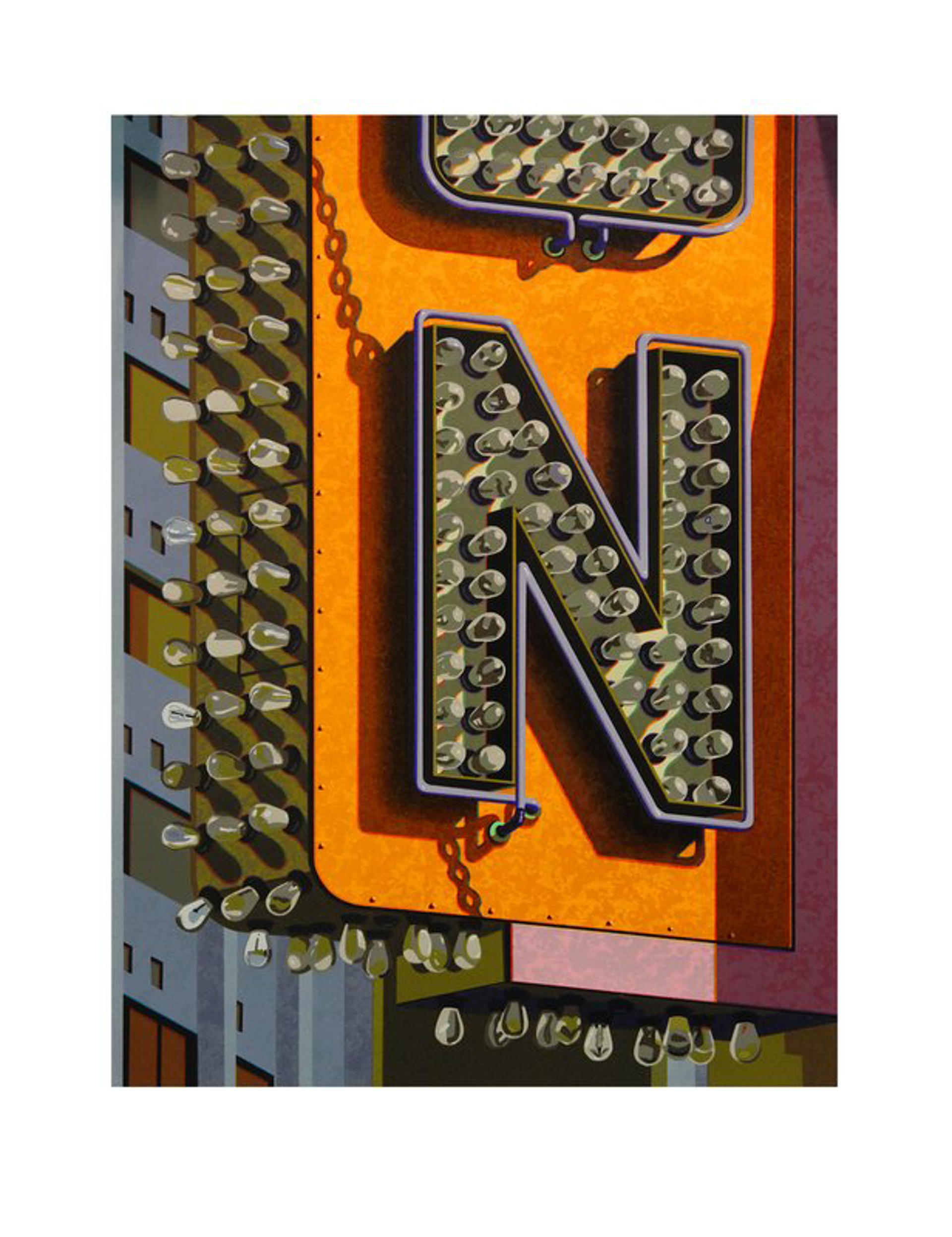 An American Alphabet: N by Robert Cottingham
