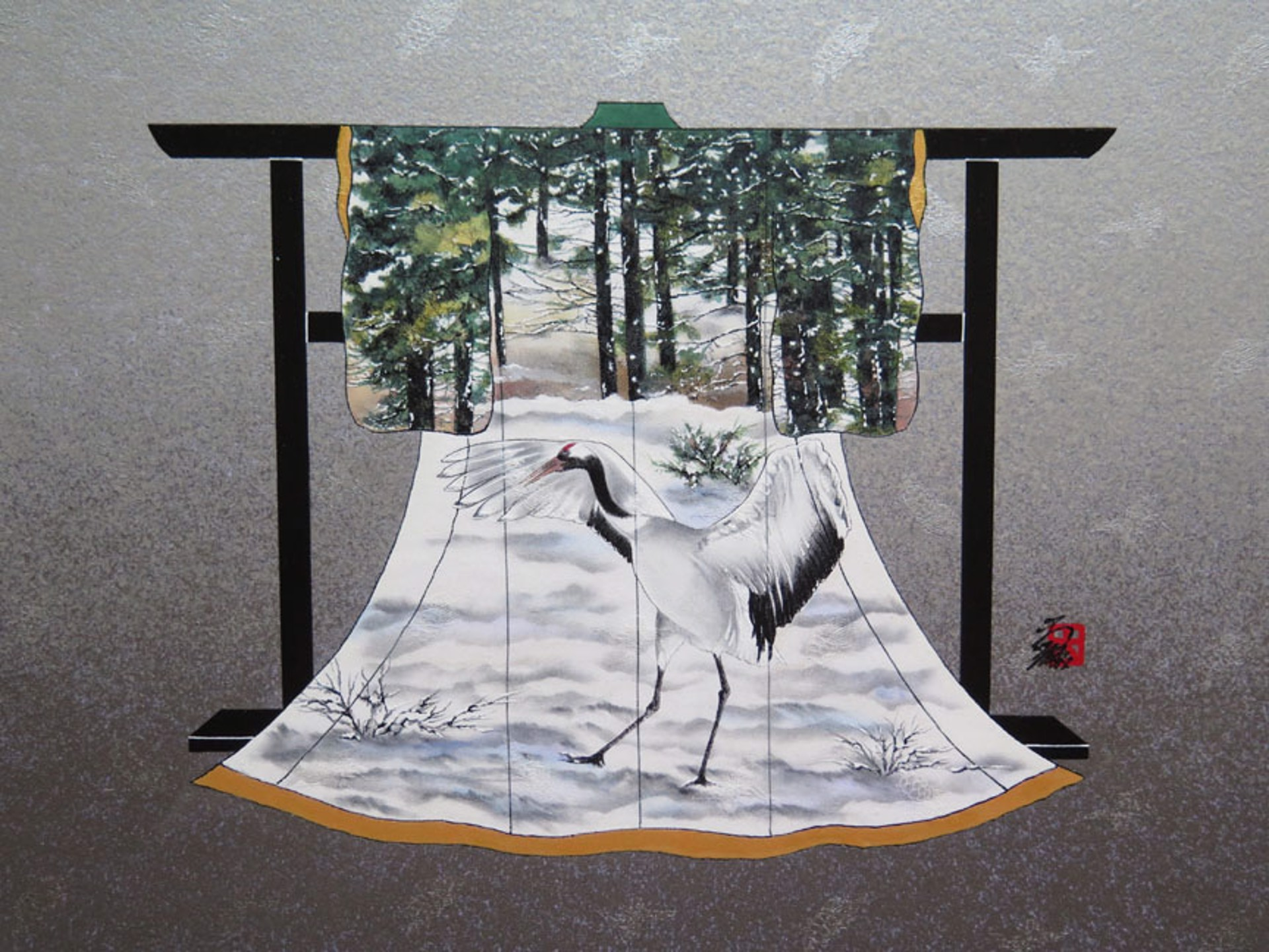 Dancing Crane 7 Tancyouzuru by Hisashi Otsuka