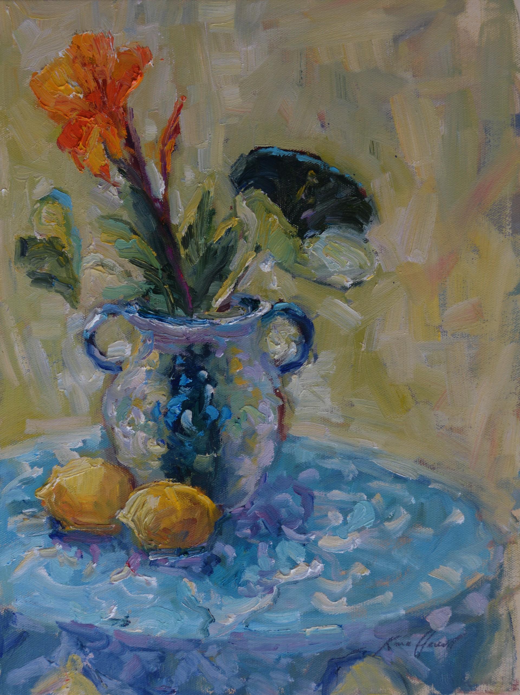 Canna Lilies and Lemons by Karen Hewitt Hagan