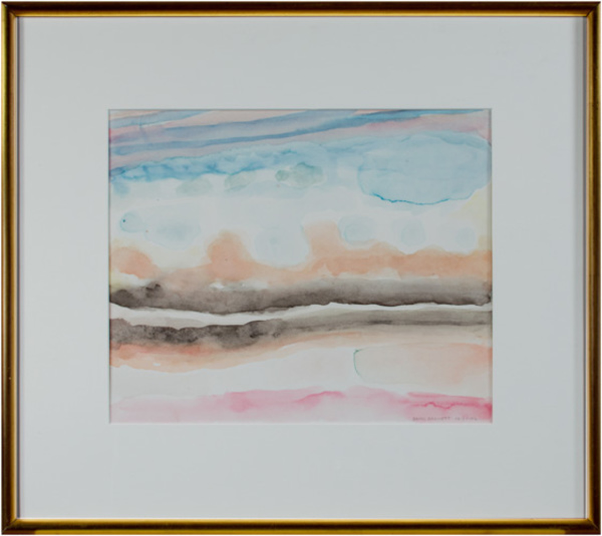 World War II Watercolor Series: Southwestern Clouds and Sky I by David Barnett