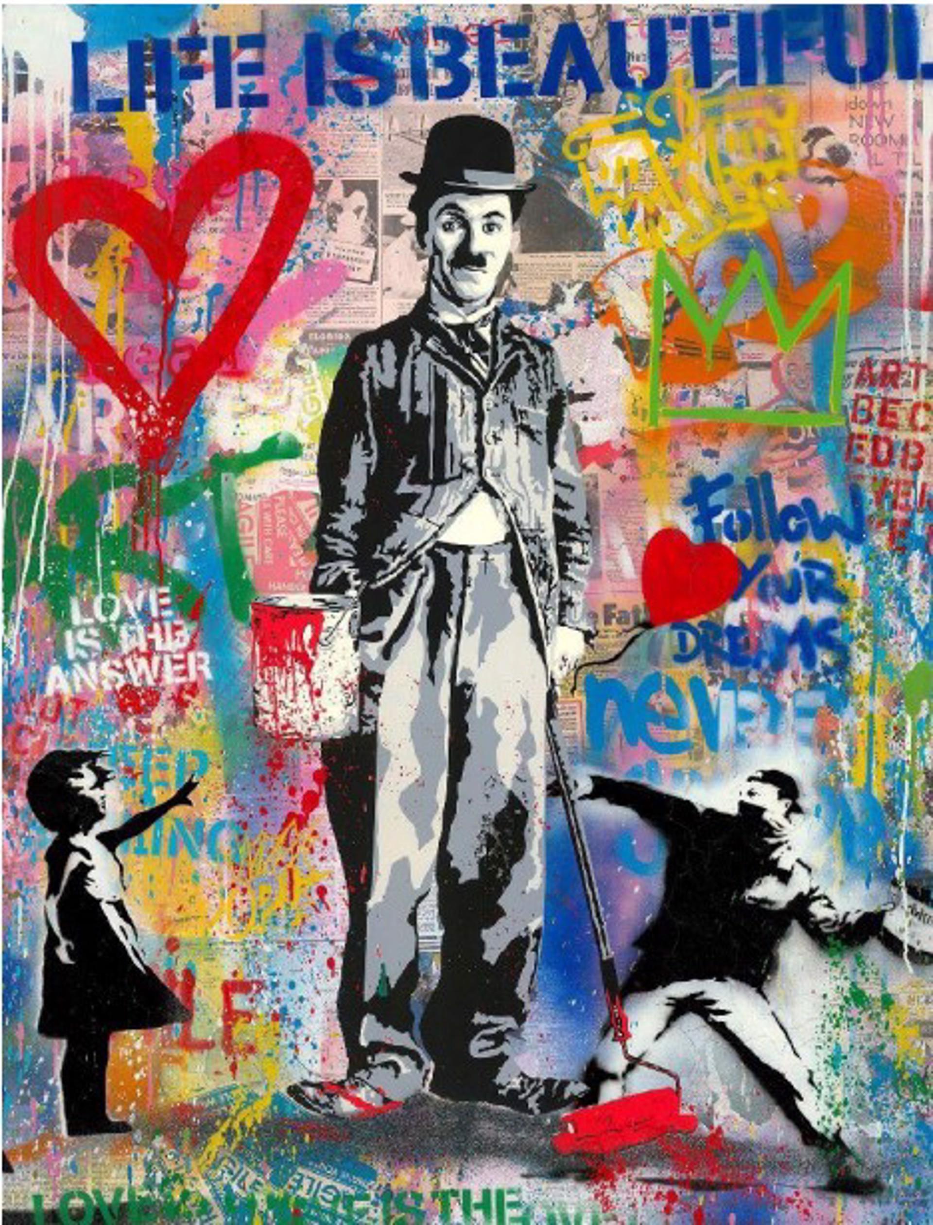 Chaplin by Mr. Brainwash (b. 1966)