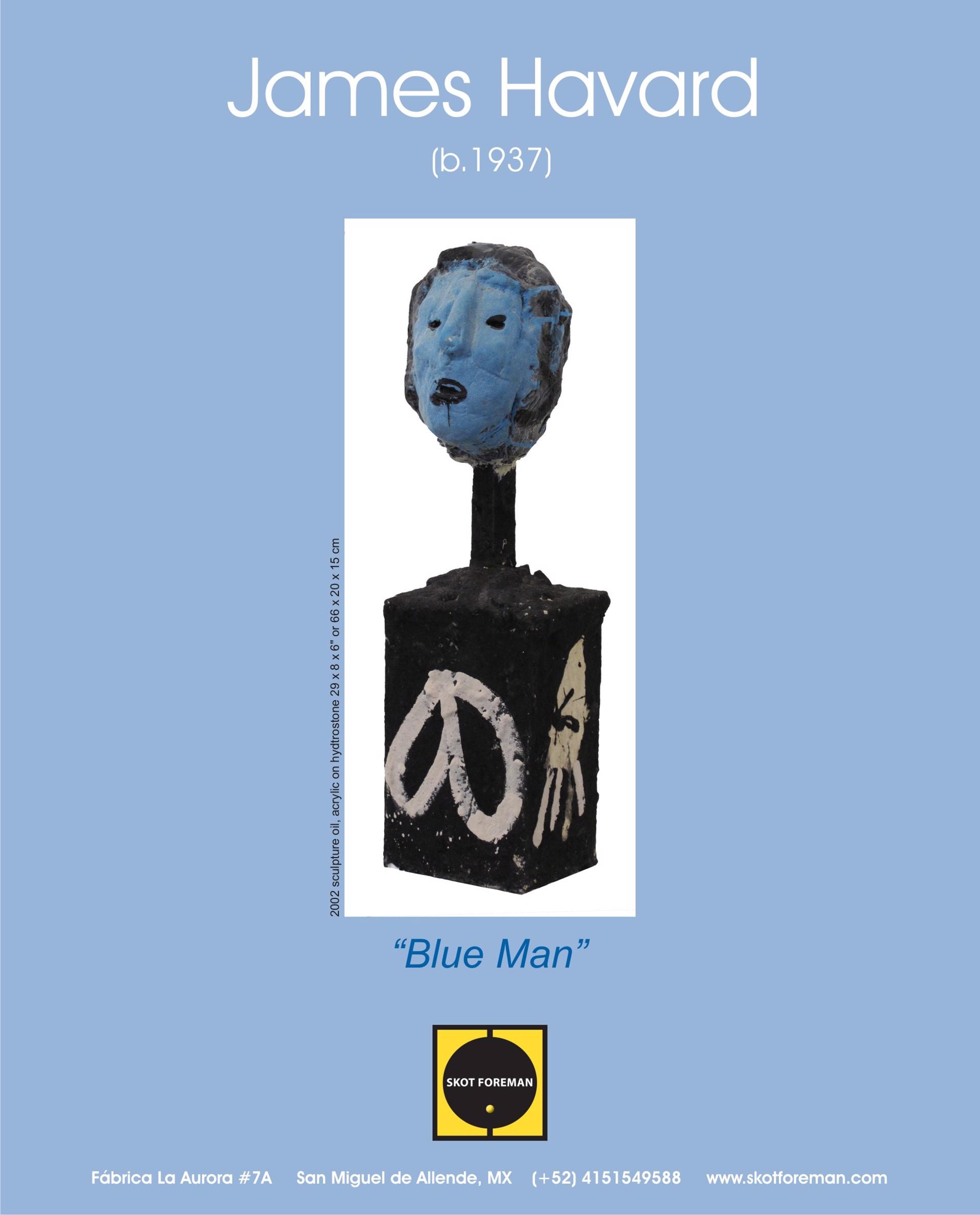 Blue Face Man by James Havard