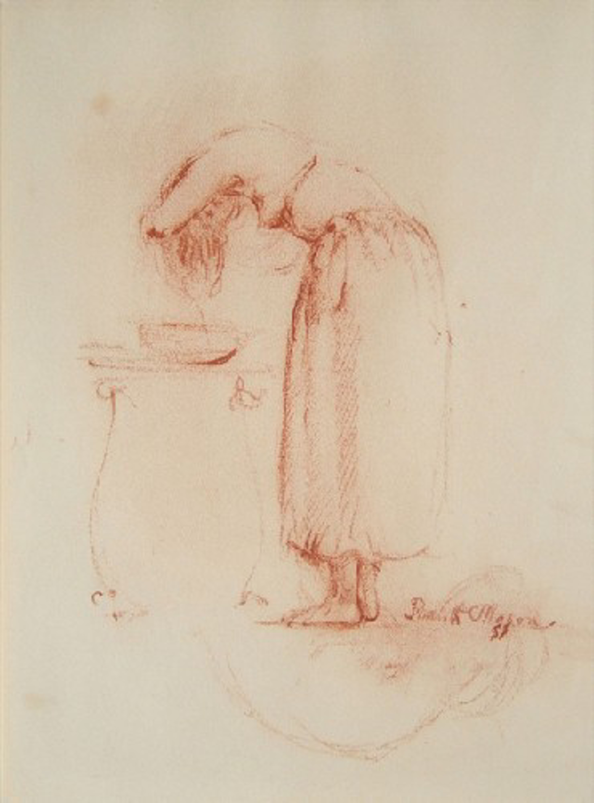 Woman Washing Hair by Frank Mason (1921 - 2009)