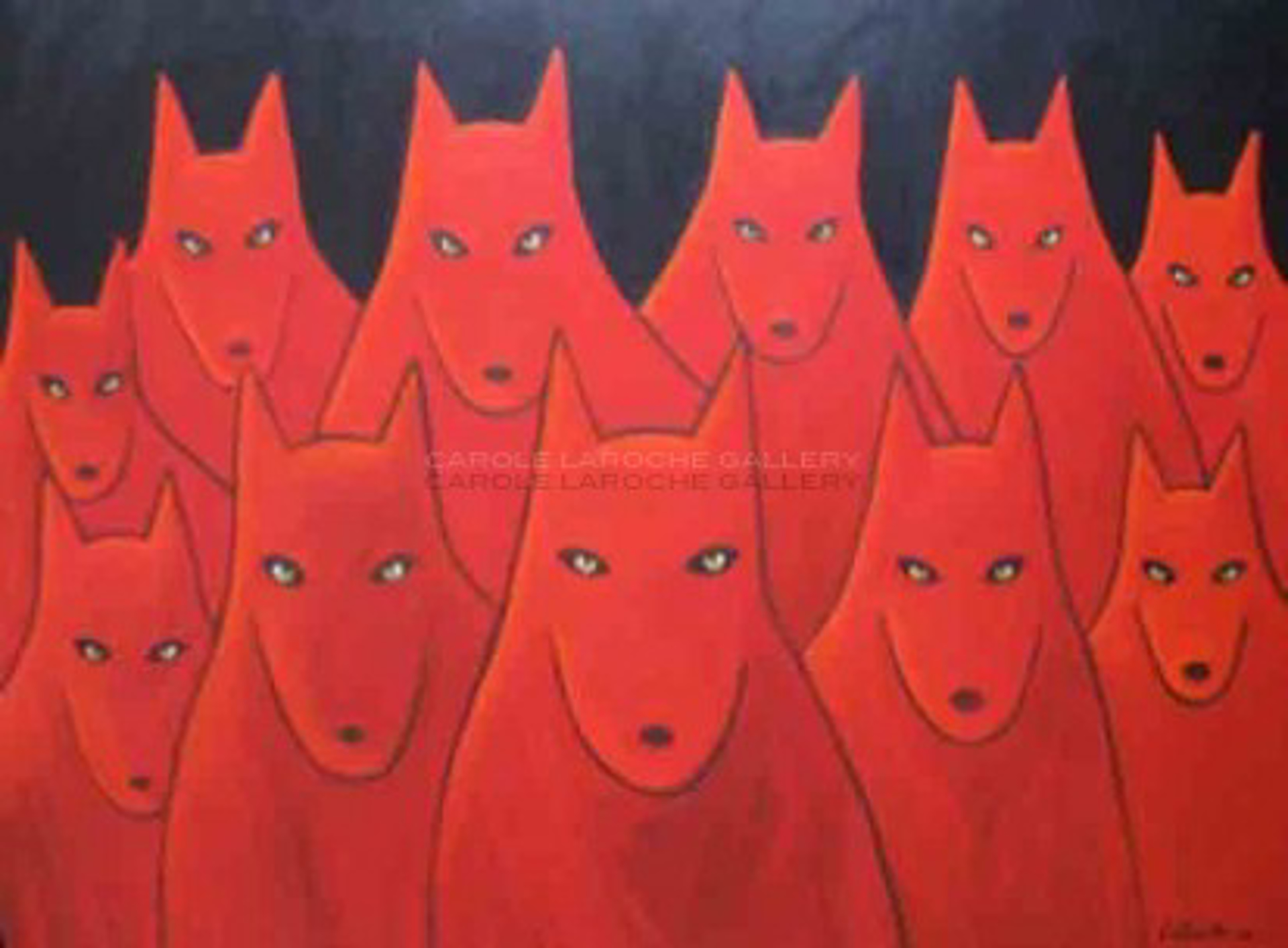 "THE GATHERING - limited edition giclee on canvas: (large) 54""x72"" $5000 or (medium) 30""x40"" $2200 by Carole LaRoche"