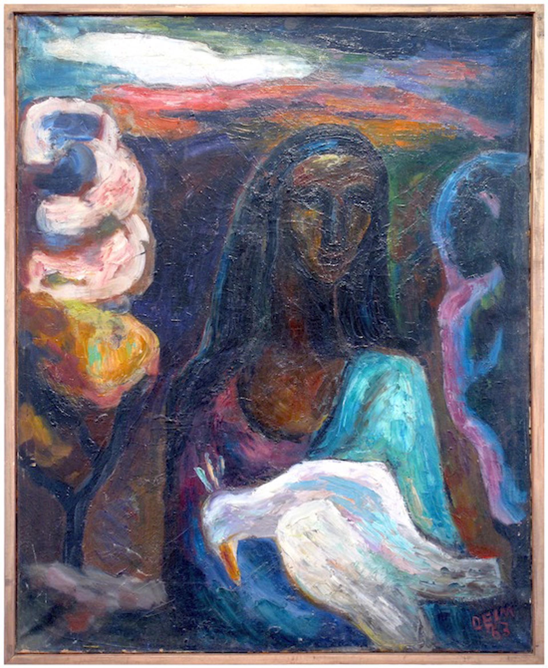 Gitane Avec L'oiseau Blesse by Judith Deim