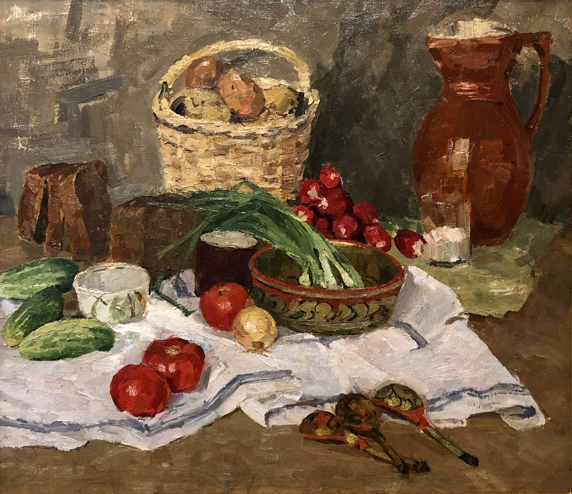 Vasili Kuzmich Komolov - Still Life with Vegetables by Russian Artists