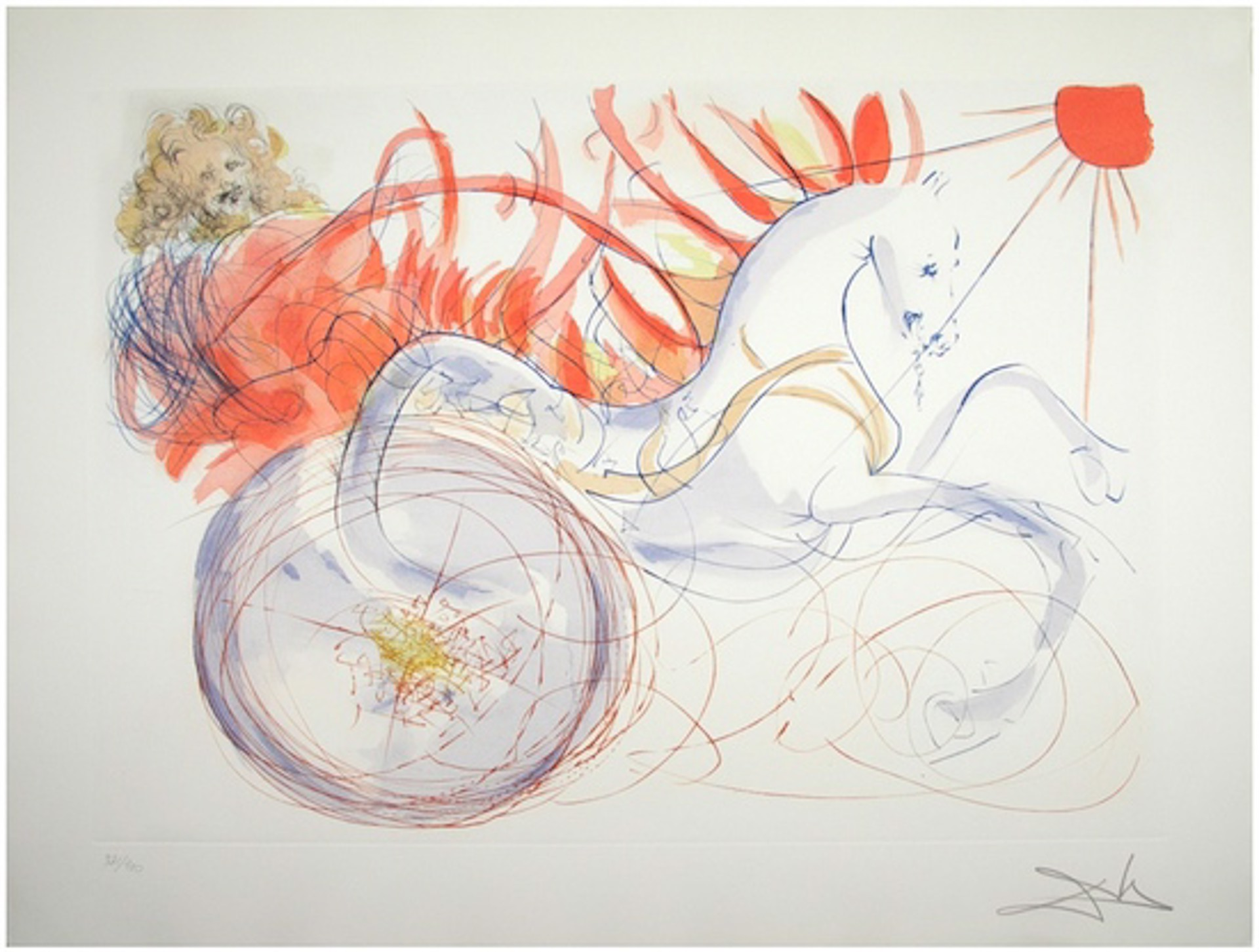 Elijah (from Our Historical Heritage, suite of 11) by Salvador Dali