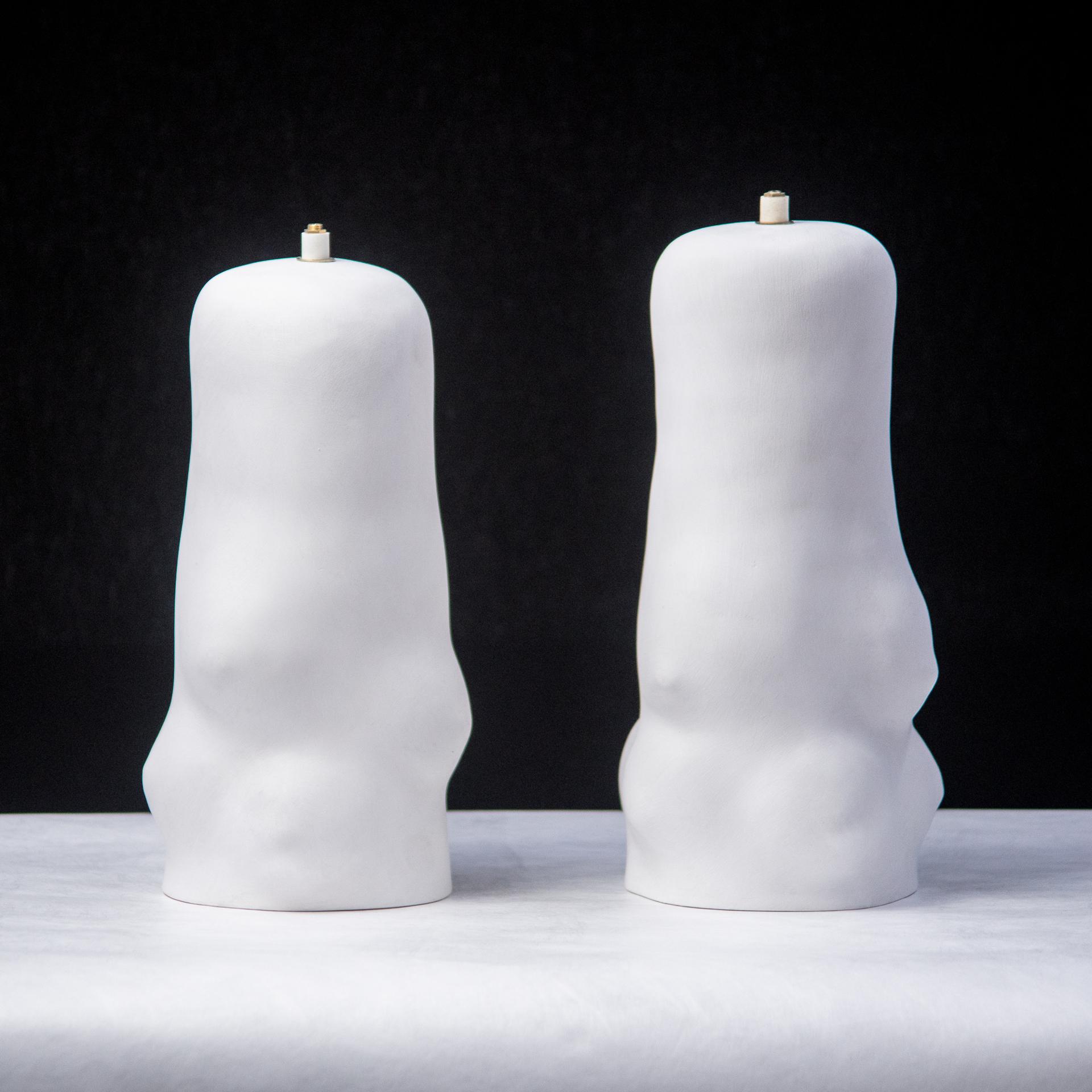 """""""Artemis"""" Ceramic lamps by Claire de Lavallee"""