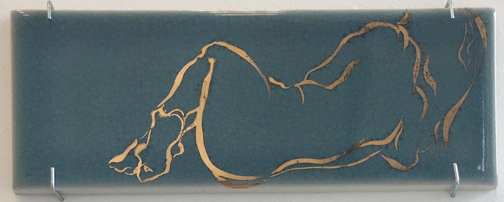 Figurative Tile I (Teal) by Amy Smith