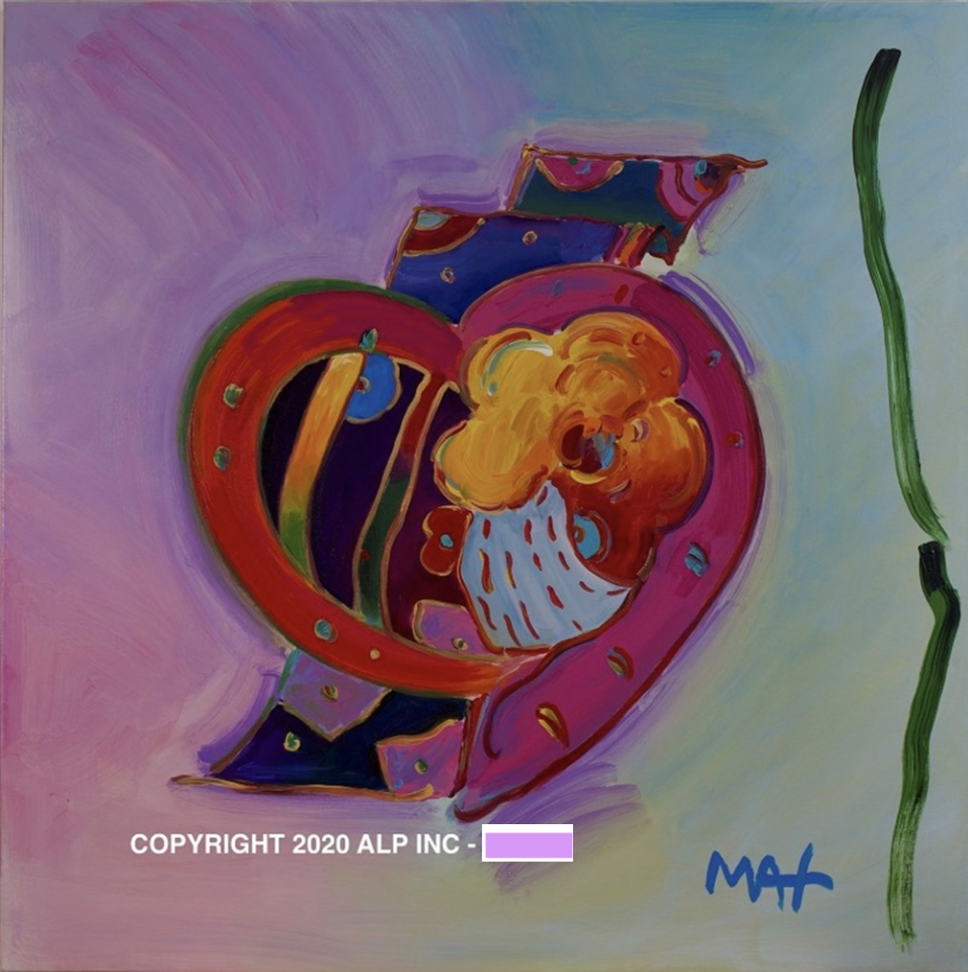 Heart (Rococo) Ver. II #1 - Vintage Collection by Peter Max