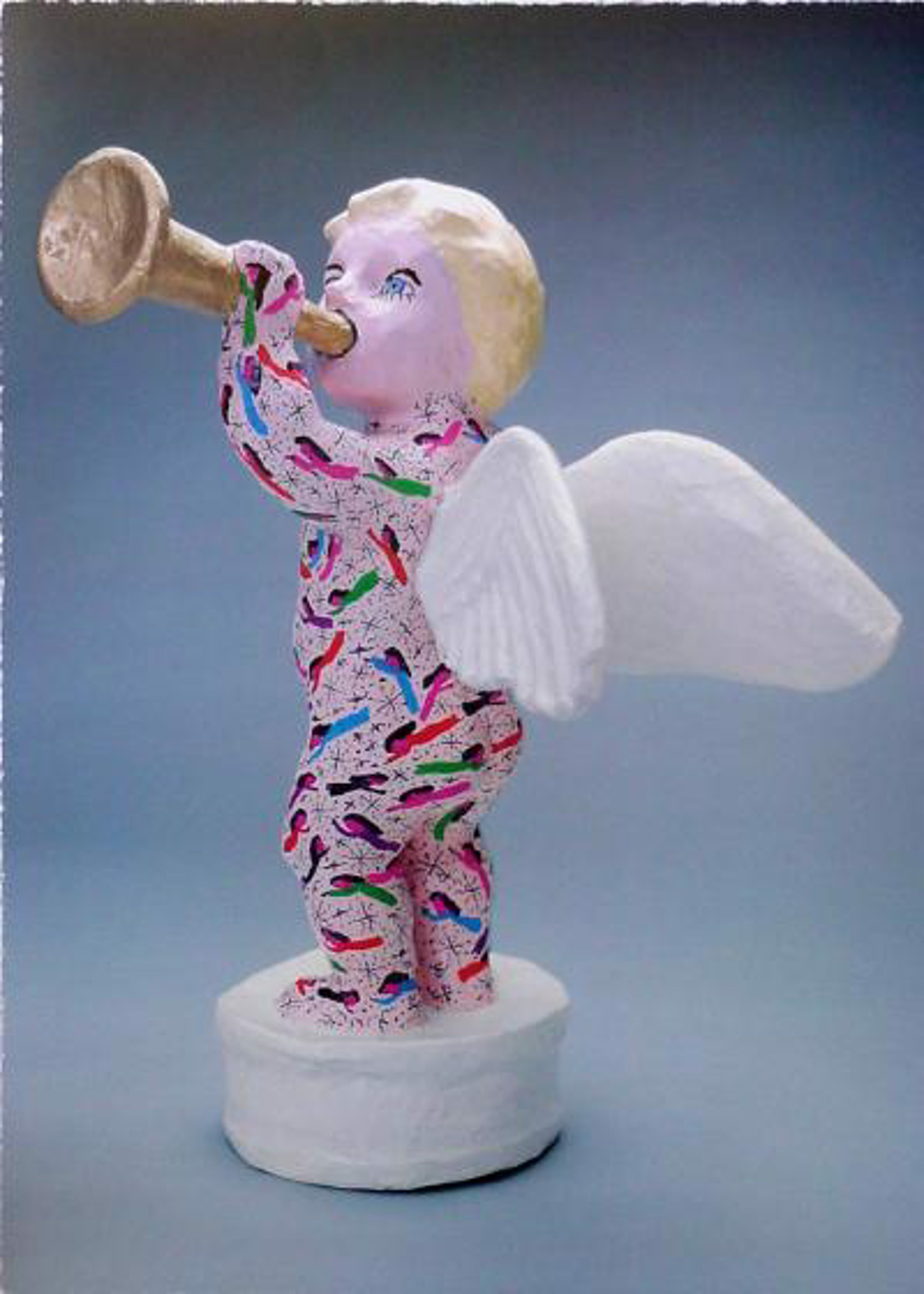 Trumpeting Angel by Howard Finster