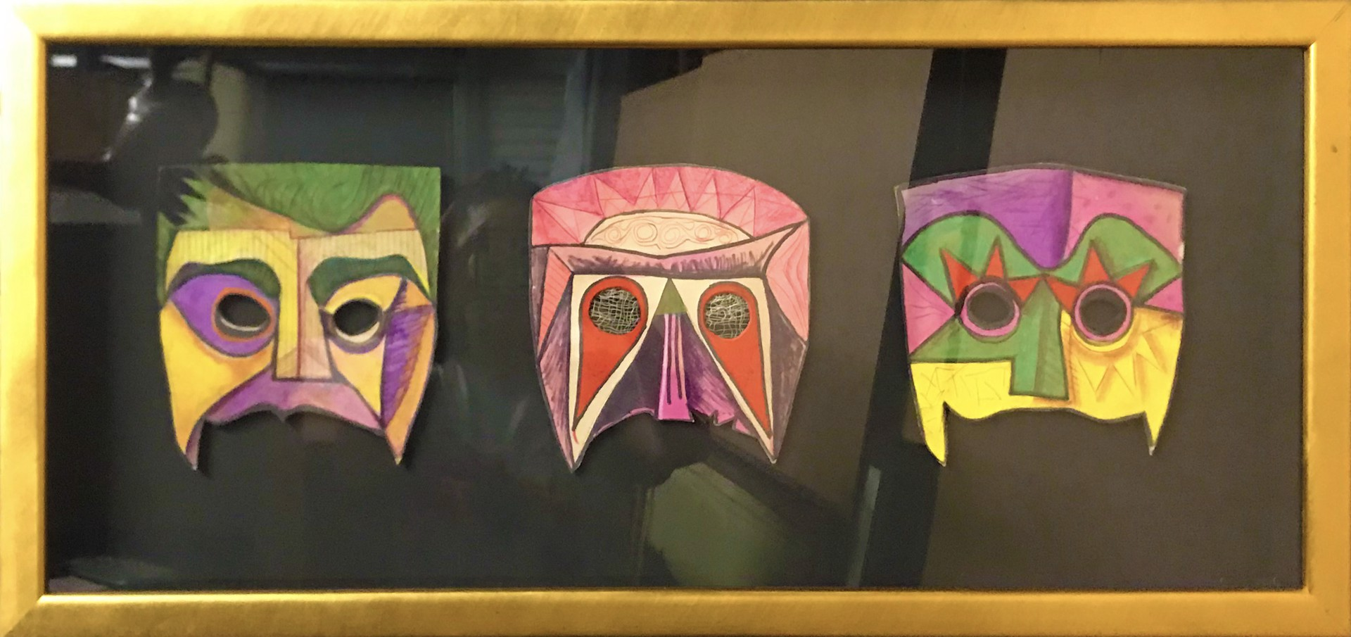 Three Warrior Masks by Bill Reily