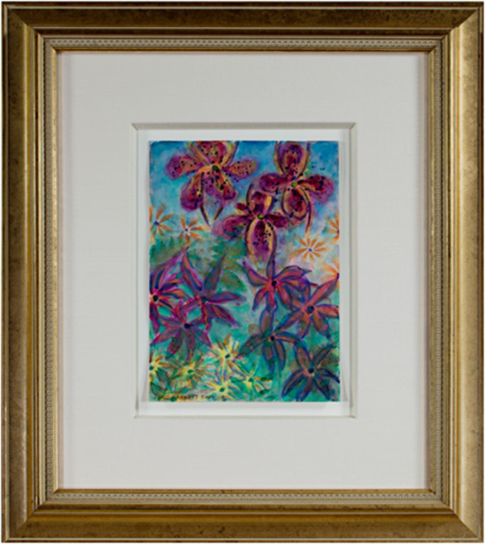 Tropical Luminous Flowers - Homage to Martin Johnson Heade, Luminist (1819-1904) by David Barnett