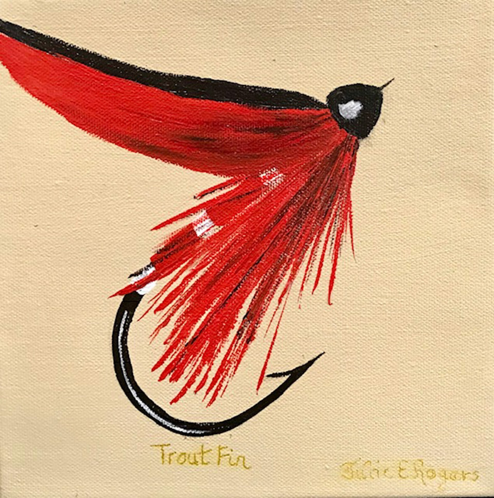 Trout Fin Fly by Julie Rogers