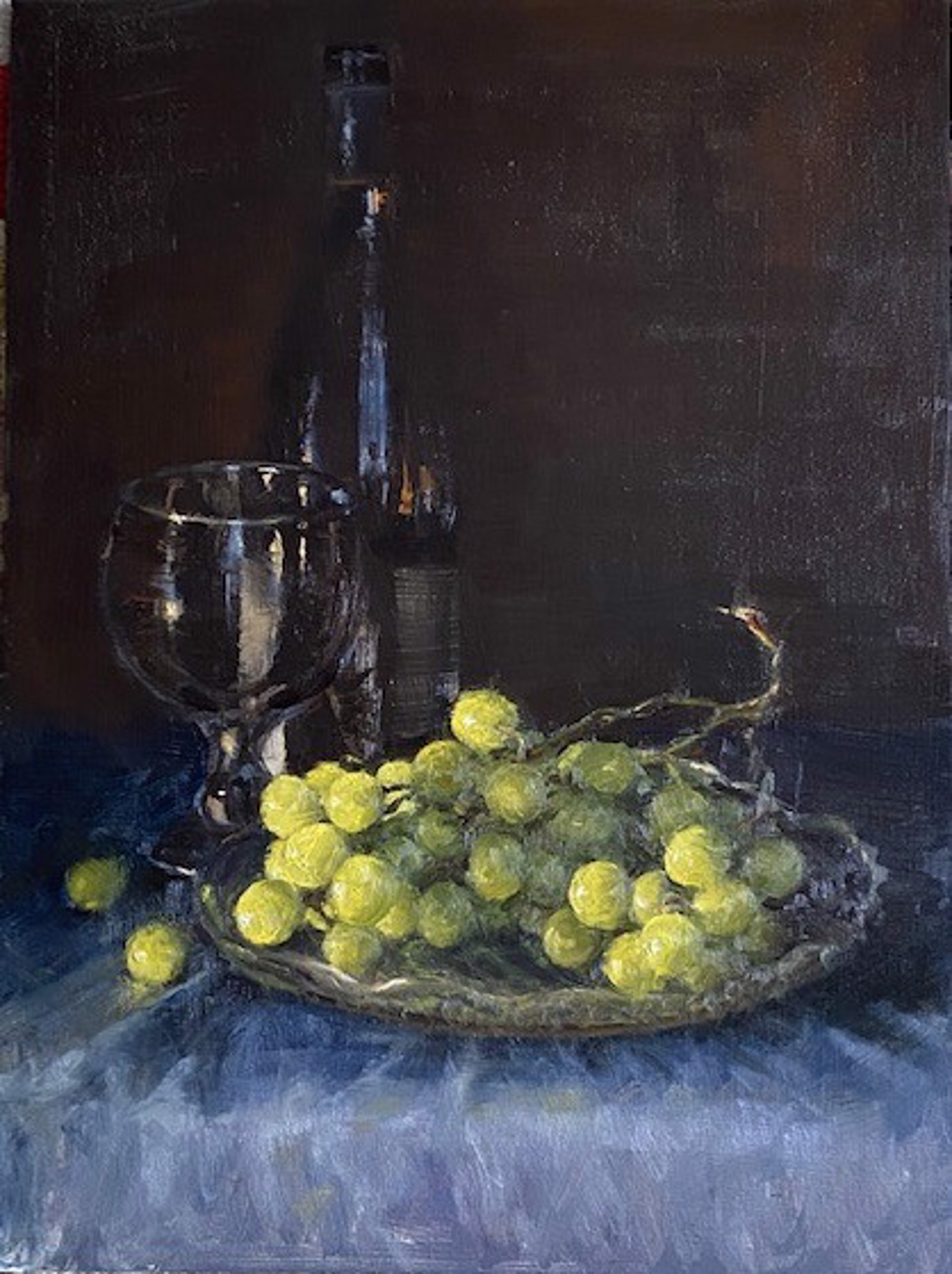 Green Grapes by Sue Foell, opa