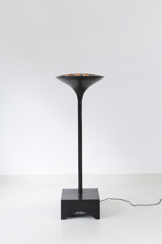 Floor lamp in bronze  by Tinatin Kilaberidze