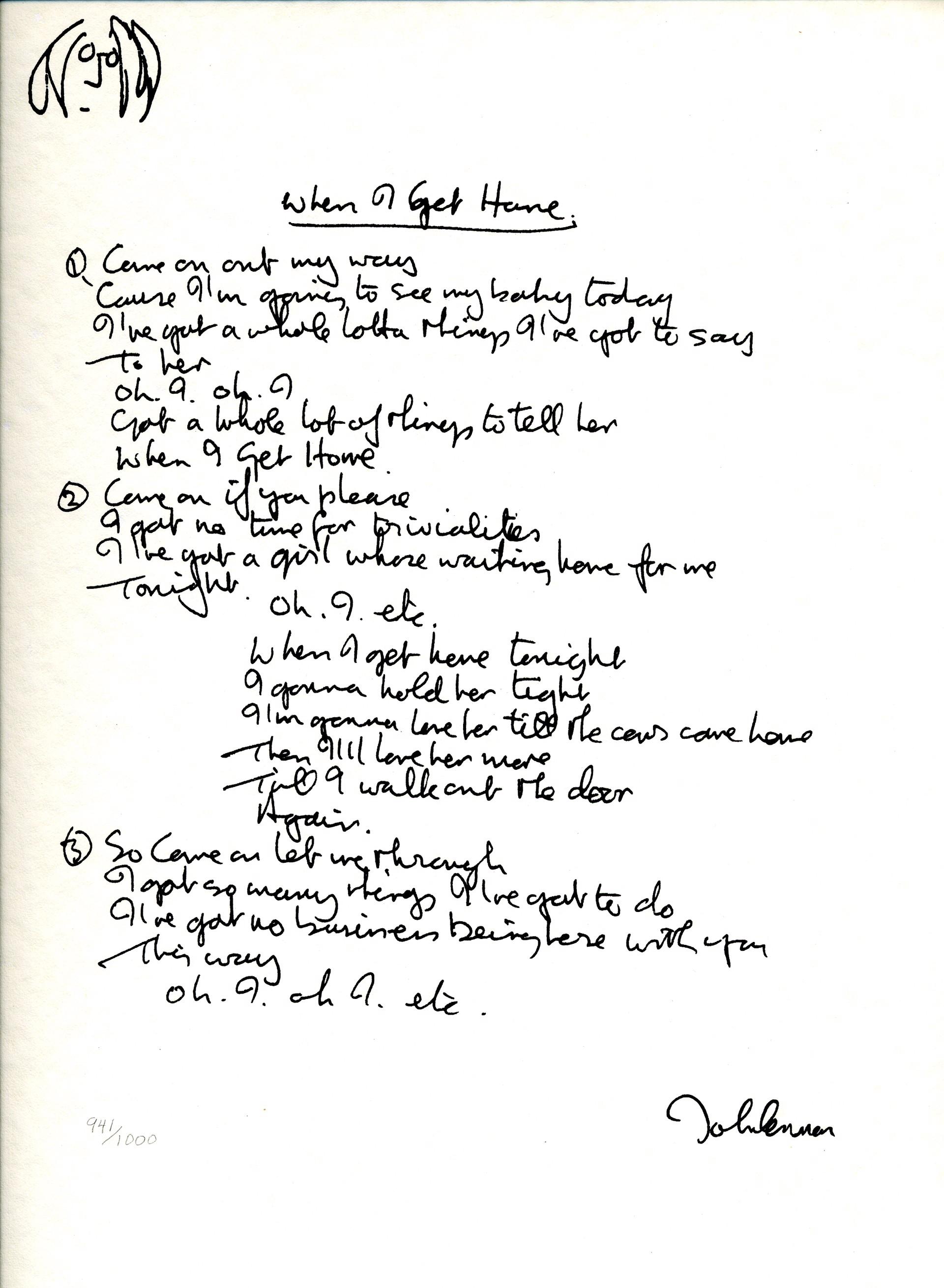 """""""When I Get Home"""" Lyrics by John Lennon"""