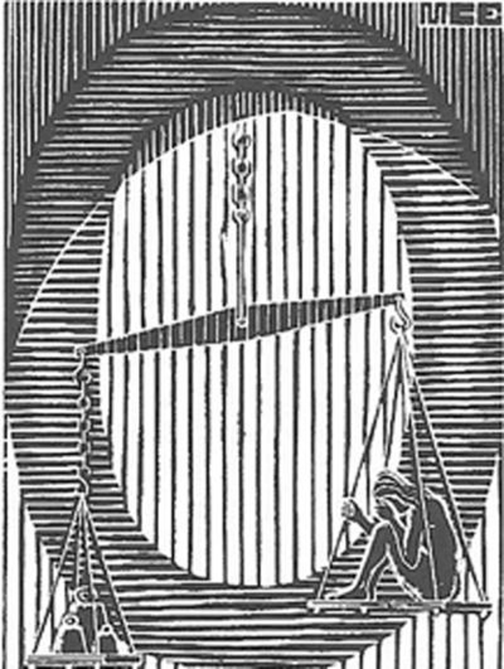 Scholastica - Initial O by M.C. Escher