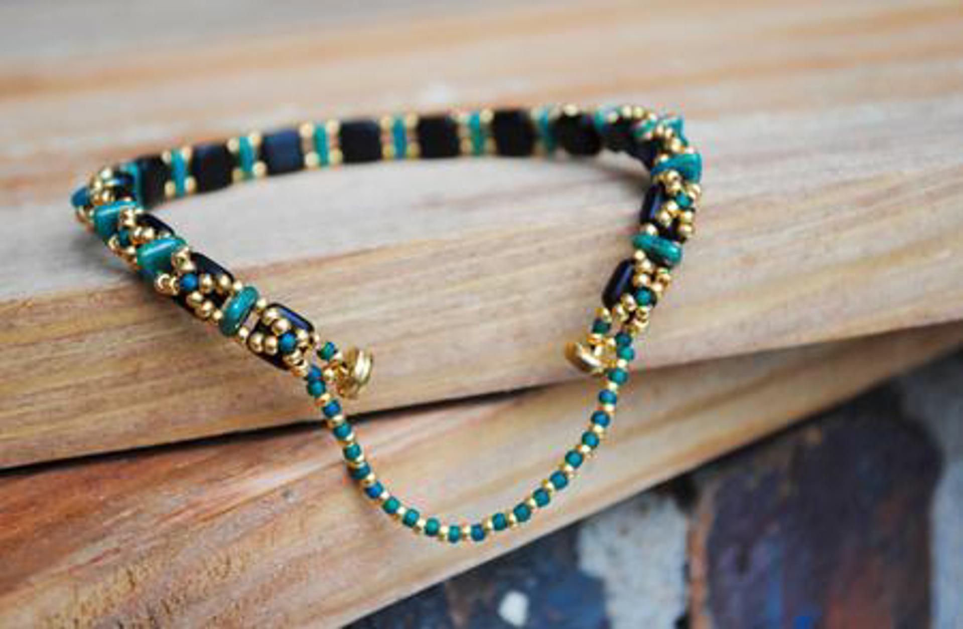 Beaded Tile Bracelets by Sam Taylor
