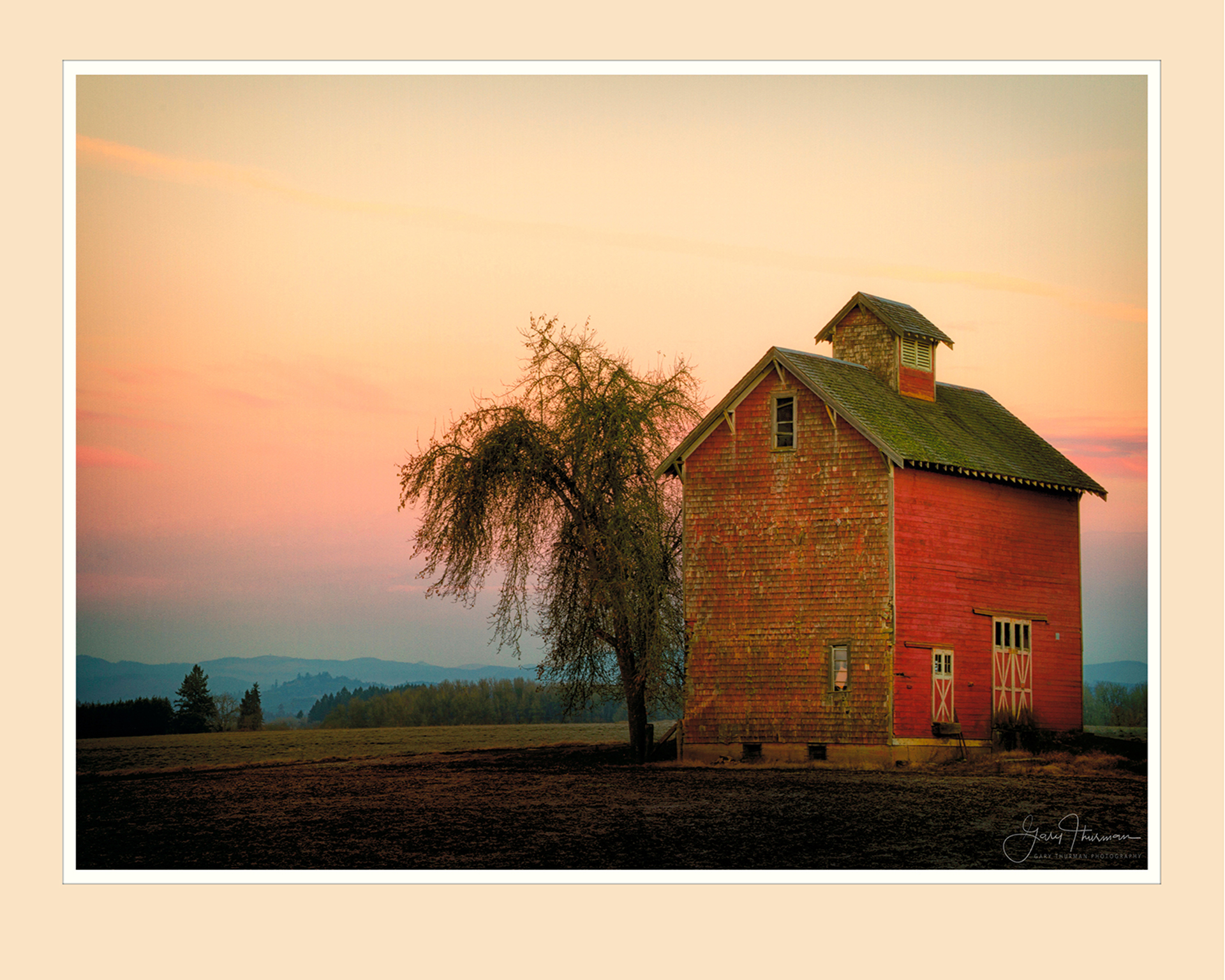 Red Barn Sunrise by Gary Thurman (McMinnville, OR)